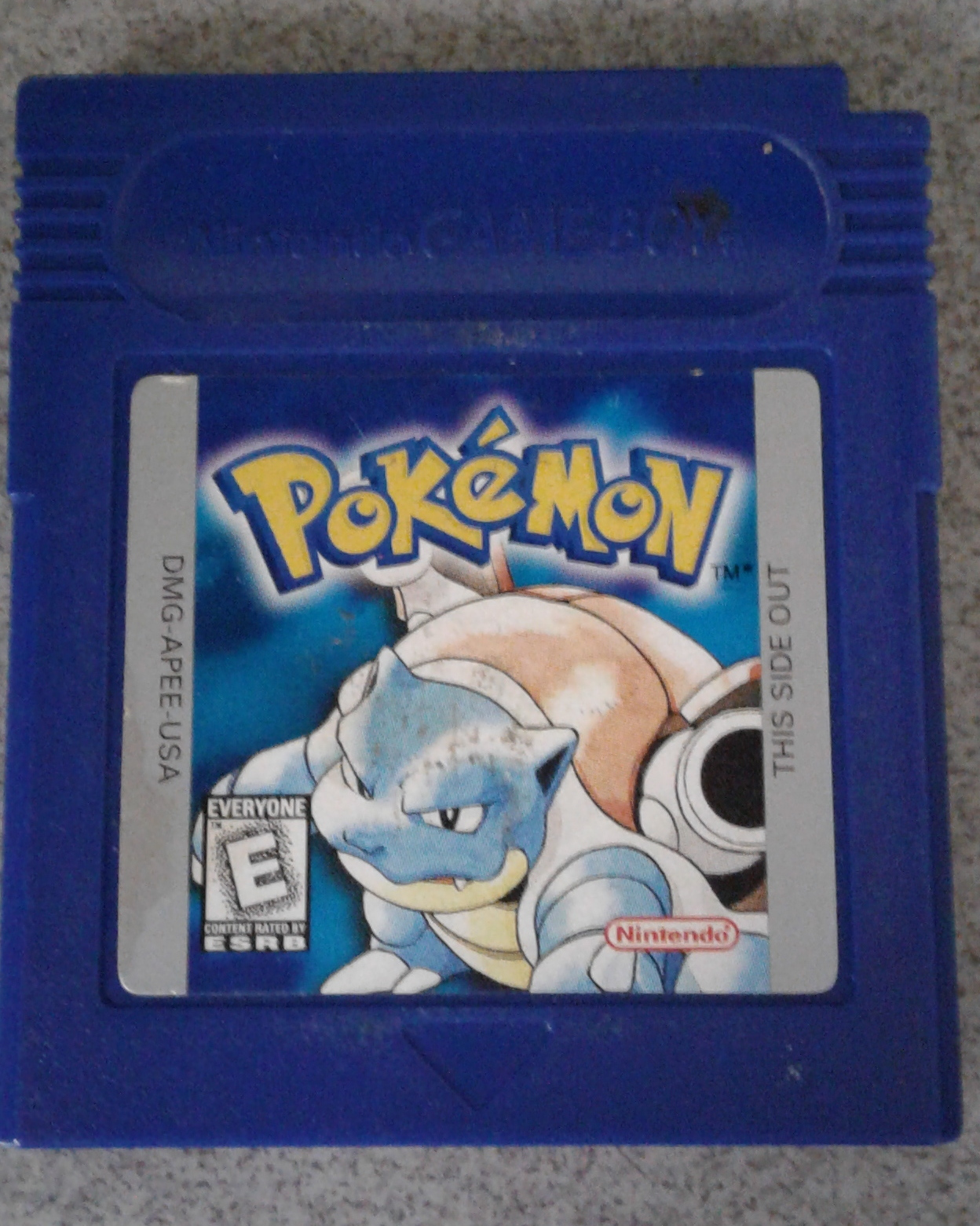 POKEMON BLUE VERSION -GAMEBOY GAME