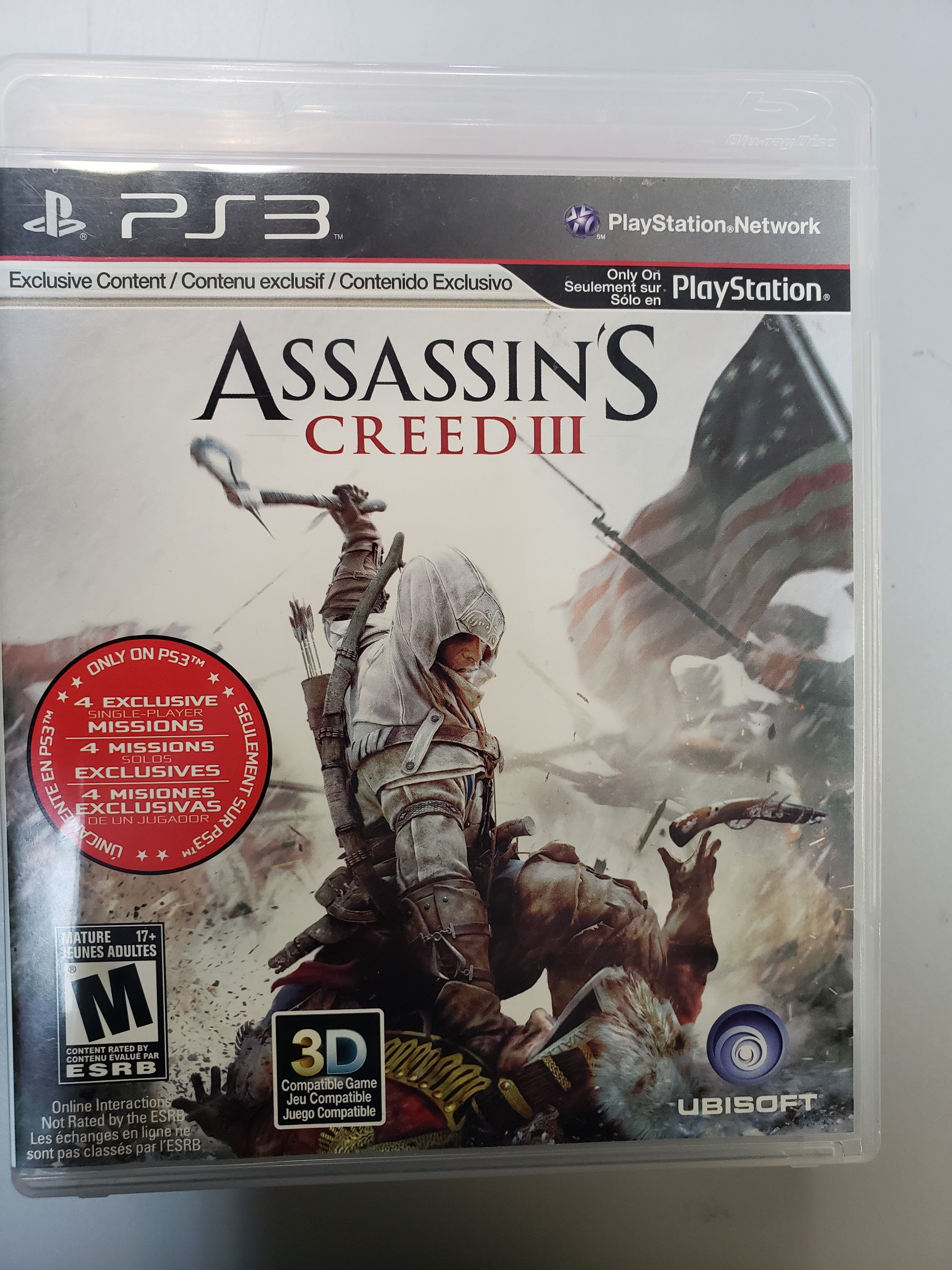 ASSASSIN'S CREED III - PS3 GAME