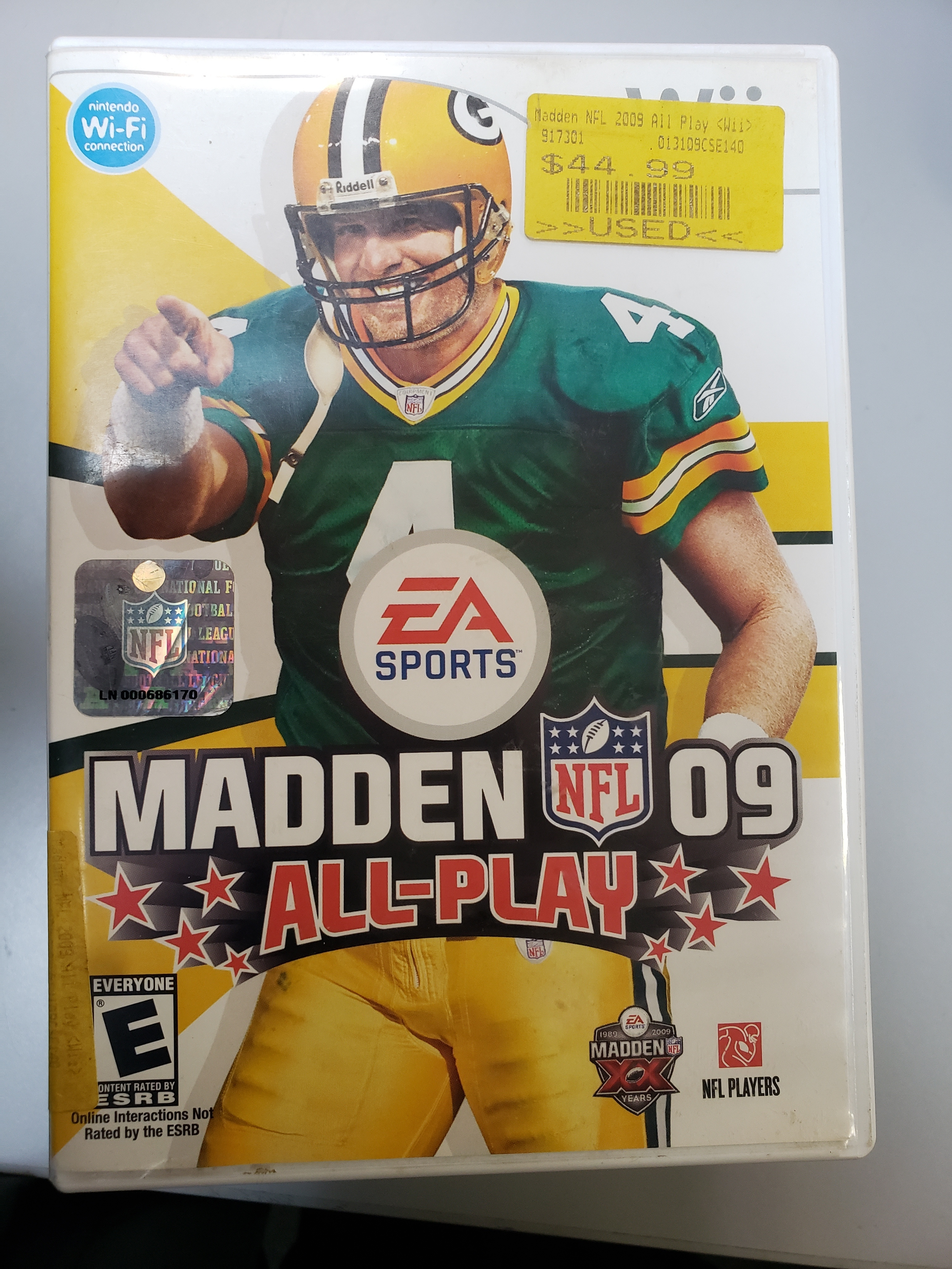MADDEN NFL 09 ALL-PLAY - WII GAME