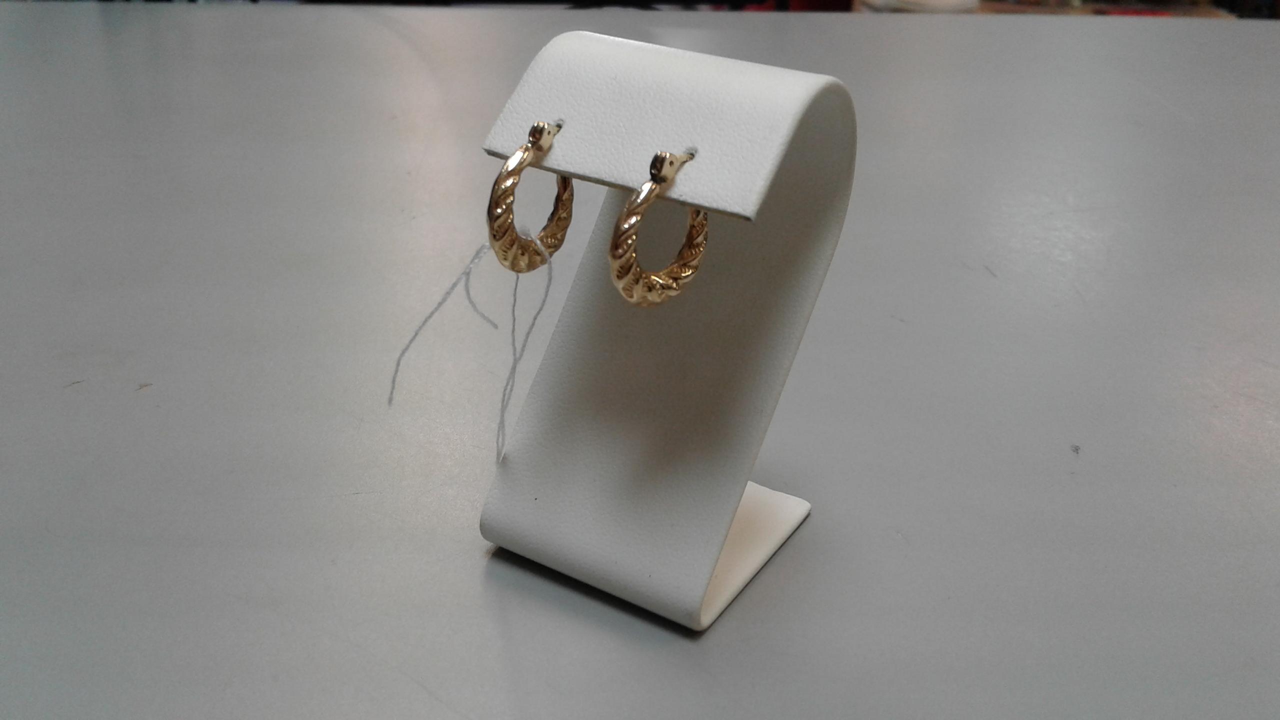 14KT - Yellow Gold - Hoop - Ear Rings -Jewelry - 1.5 Grams