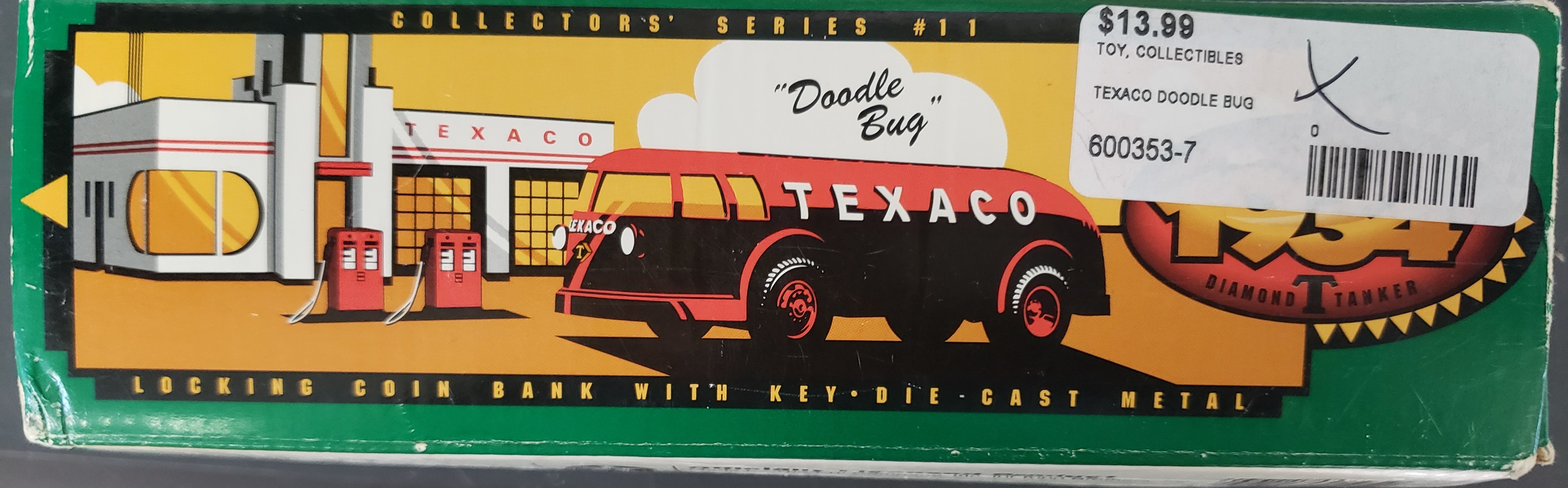 TEXACO DOODLE BUG - COLLECTOR'S SERIES - LOCKING COIN BANK