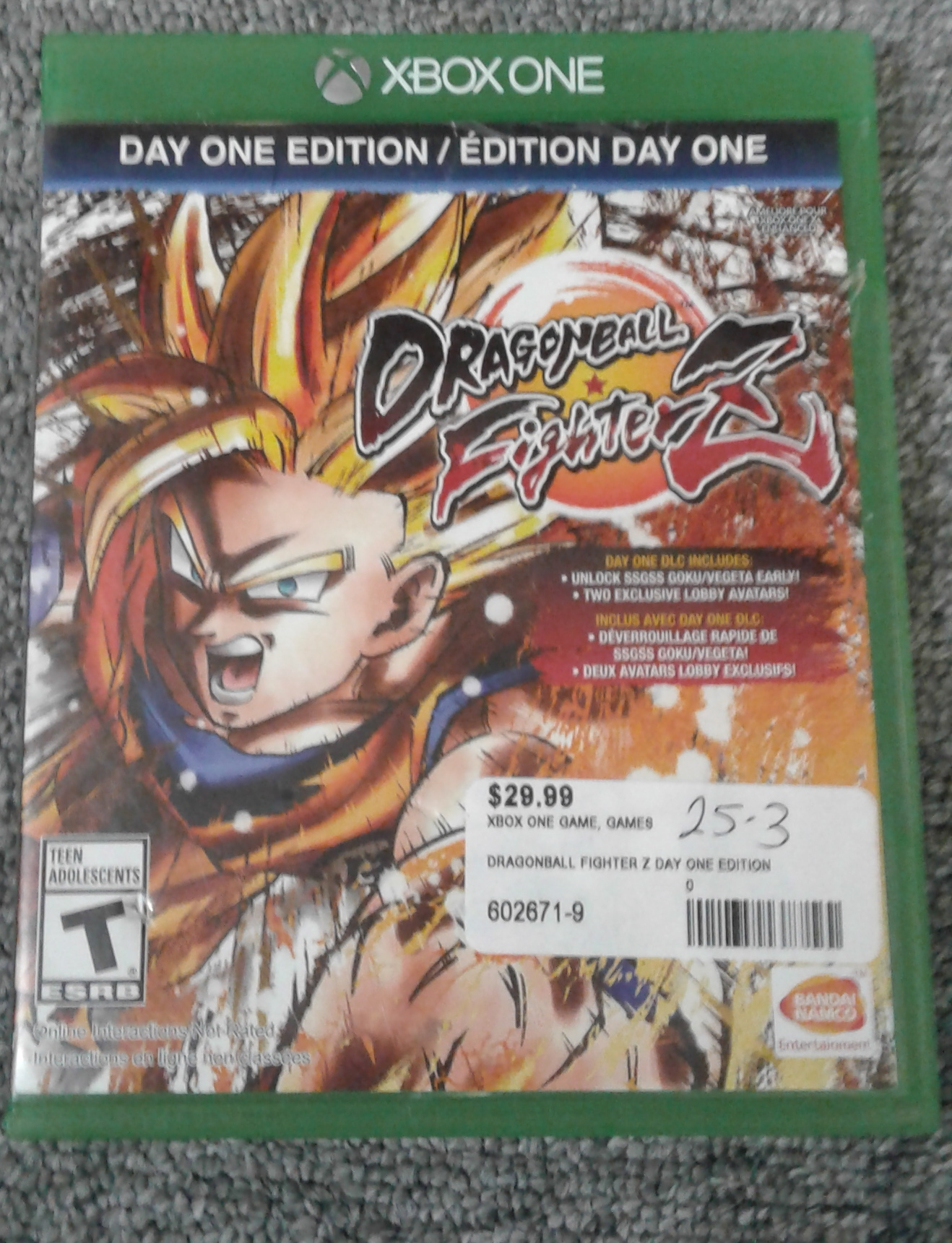 DRAGONBALL FIGHTERZ- DAY ONE EDITION - XBOX ONE GAME