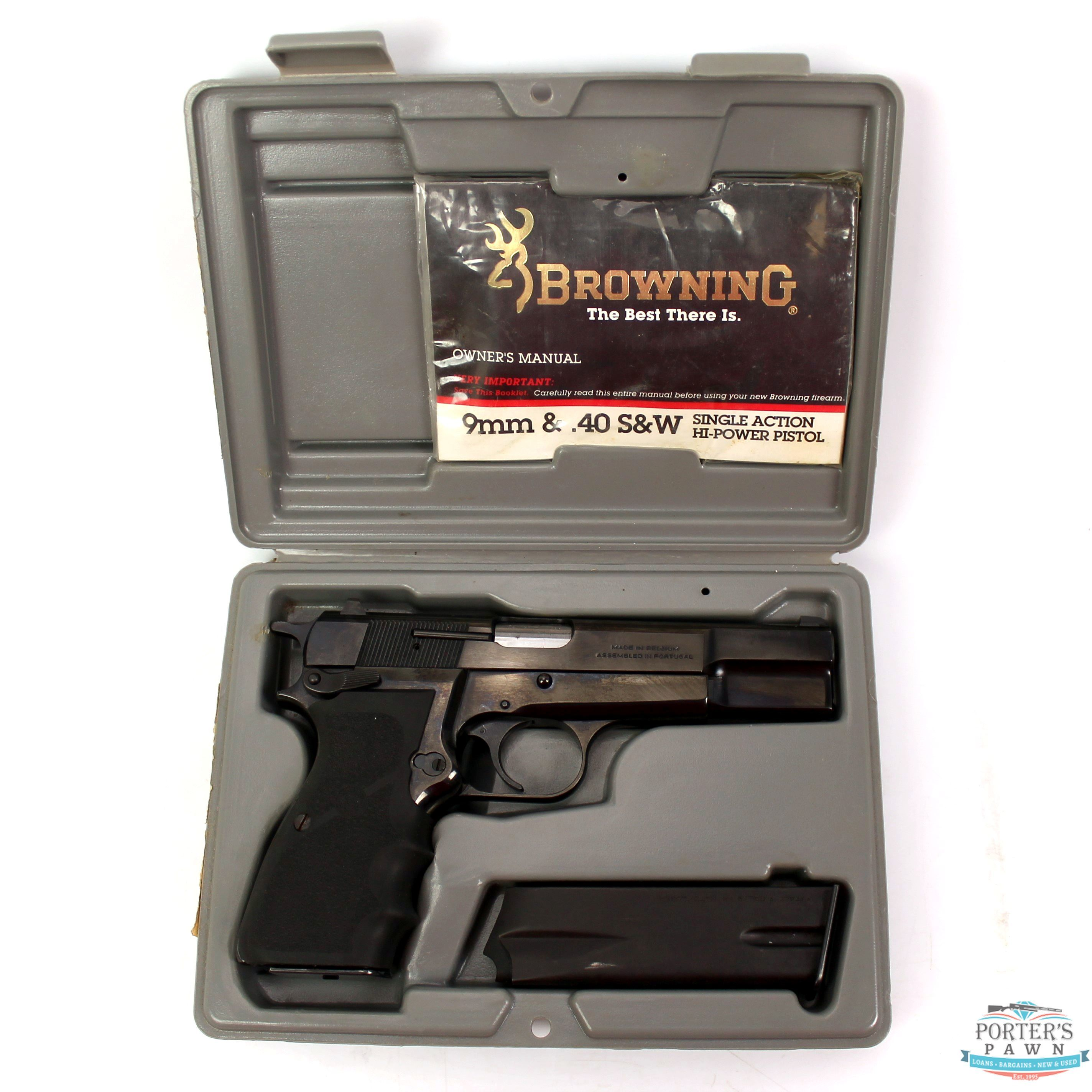 Browning Hi-Power 9mm Luger Pistol w/ Case-img-7