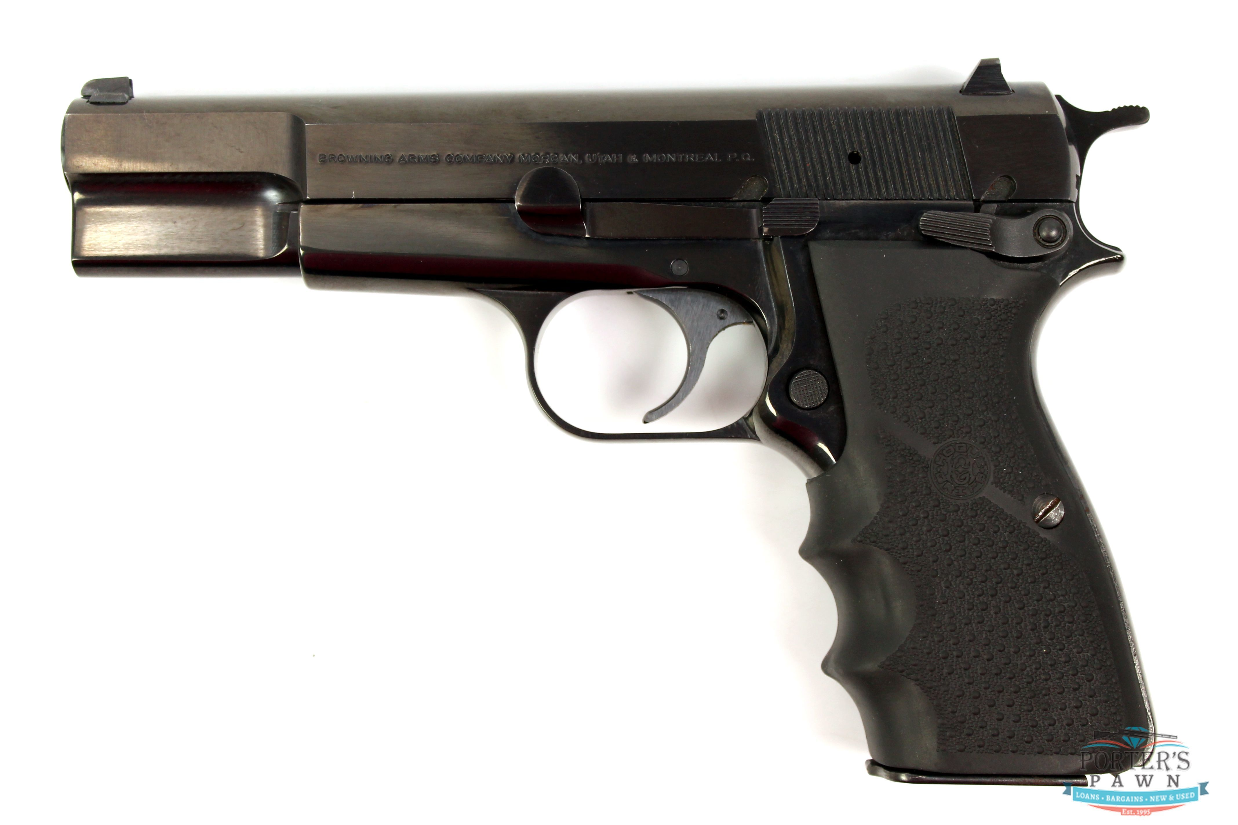 Browning Hi-Power 9mm Luger Pistol w/ Case-img-2