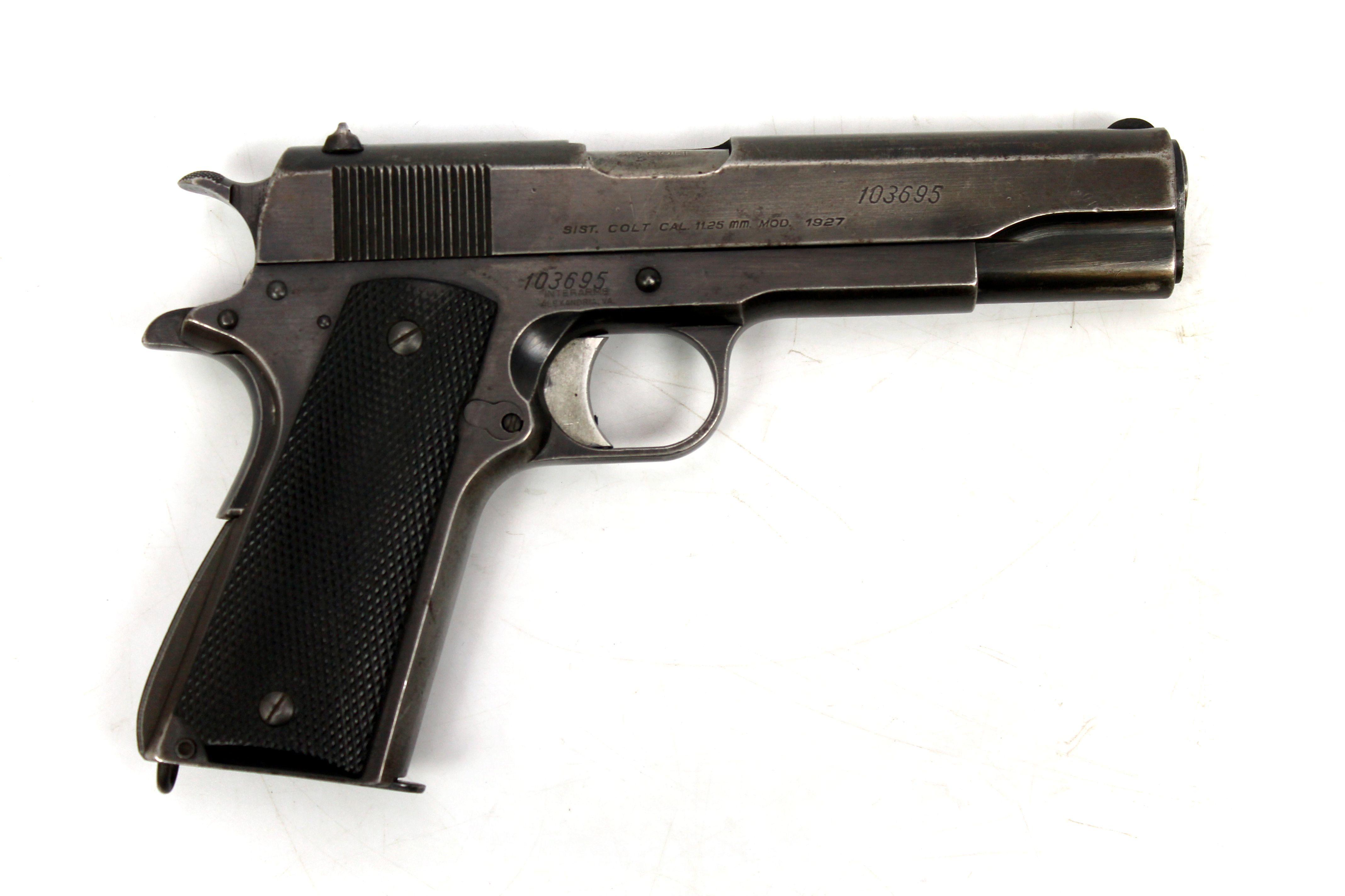 1959 D.G.F.M. Sistema Colt Model 1927 11.25mm/.45 ACP Semi-Automatic Pistol