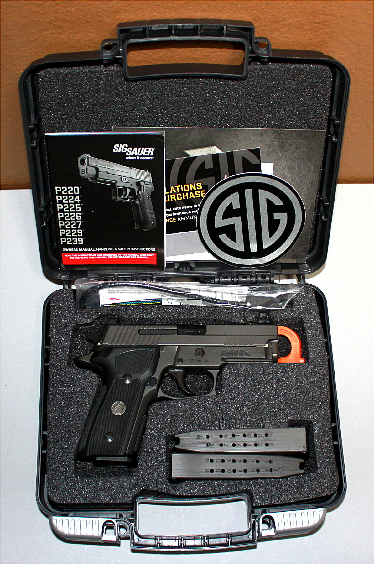 SIG SAUER P229 LEGION 9MM SEMI AUTOMATIC PISTOL - NICE!