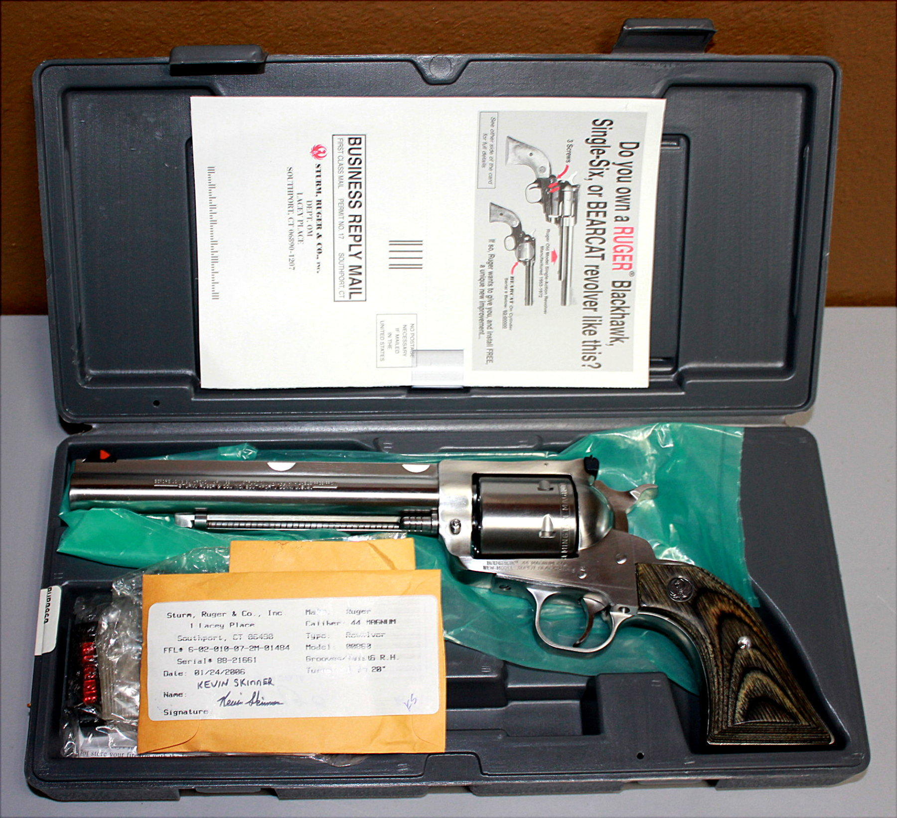 RUGER SUPER BLACKHAWK HUNTER 44 MAGNUM REVOLVER - VERY NICE!