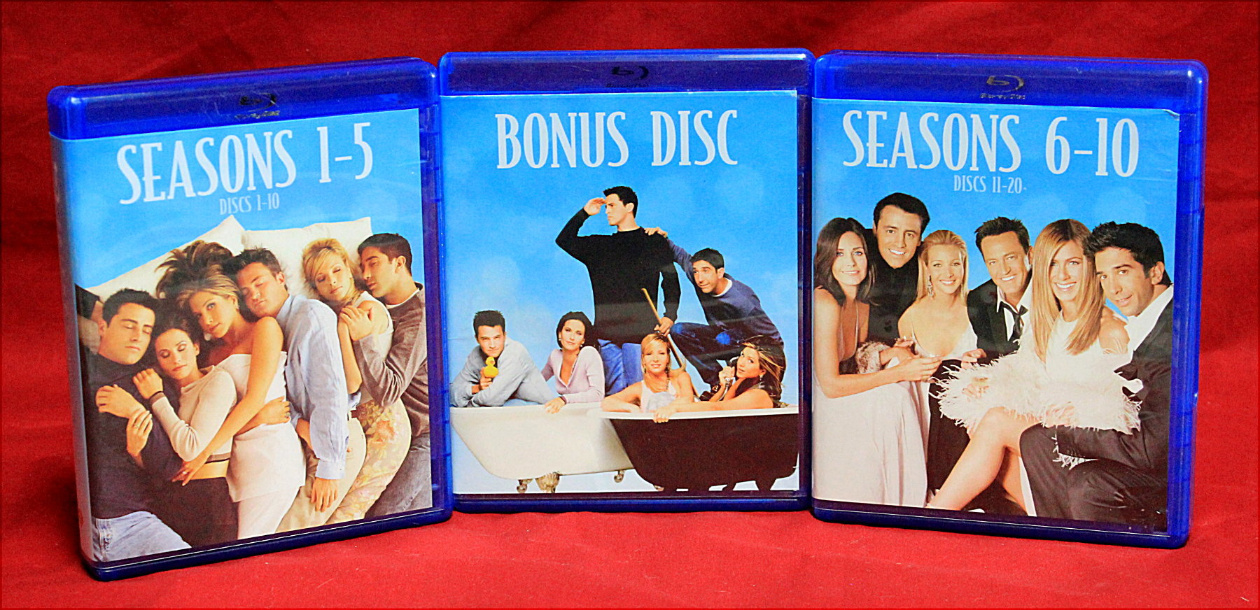 FRIENDS THE COMPLETE SERIES SEASONS 1-10 BLU RAY