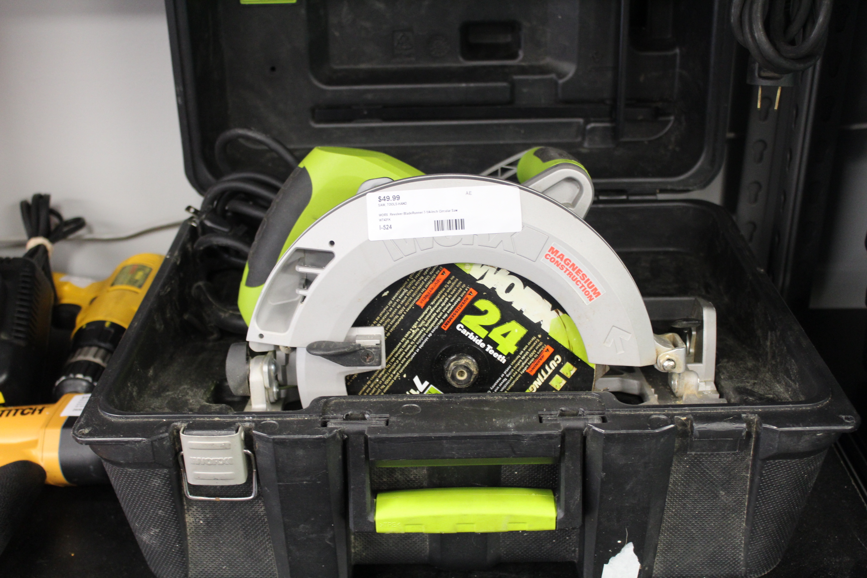 Worx Circular Saw with Case