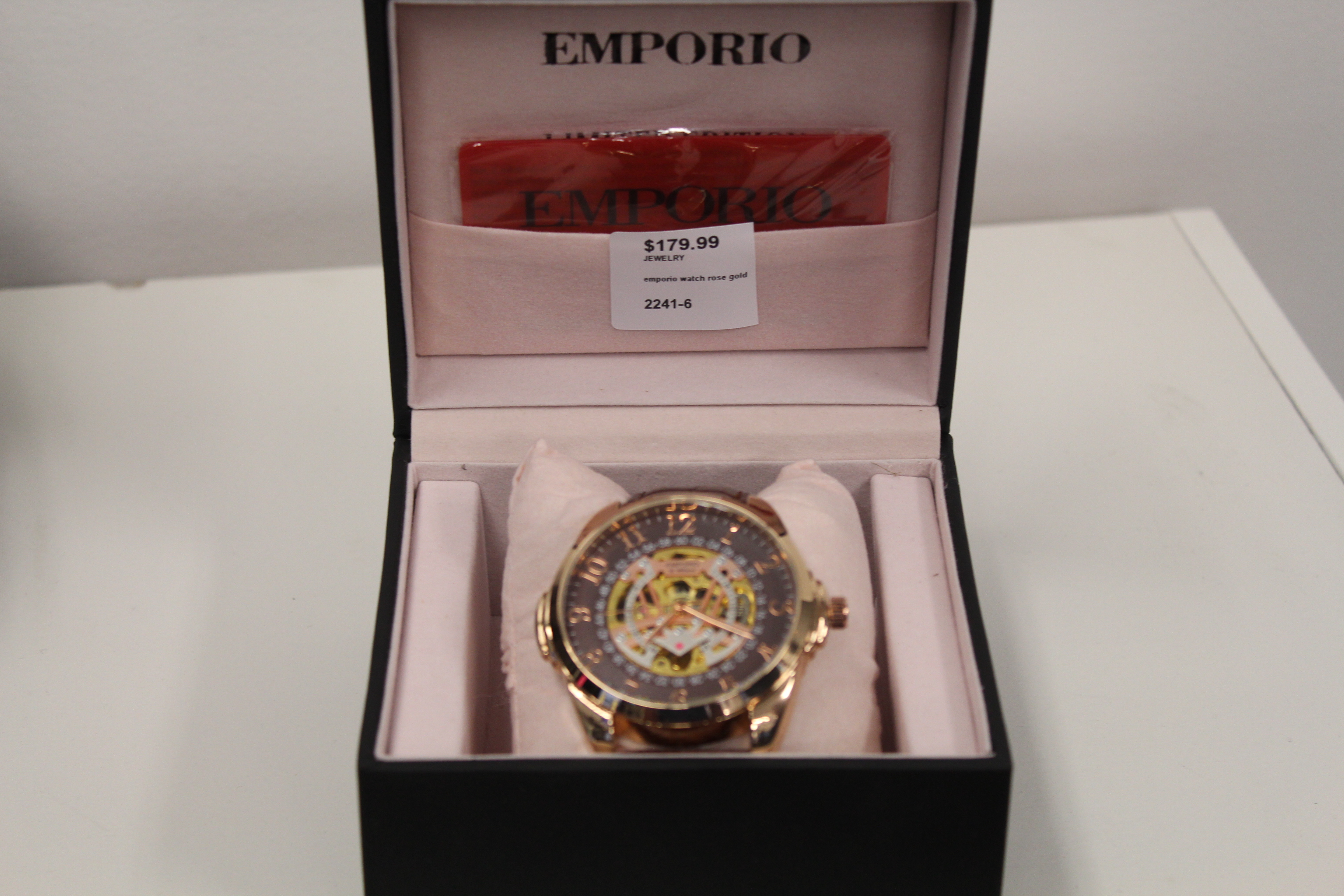 Emporio Rose Gold Men's Watch