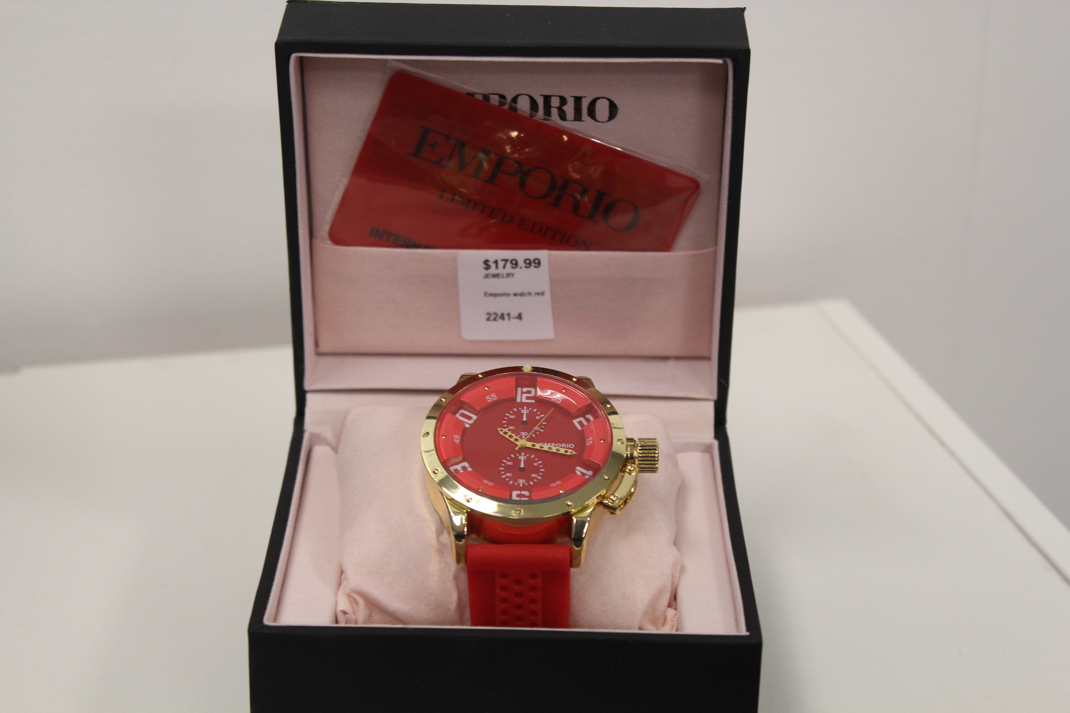 Emporio Men's Watch (Red)