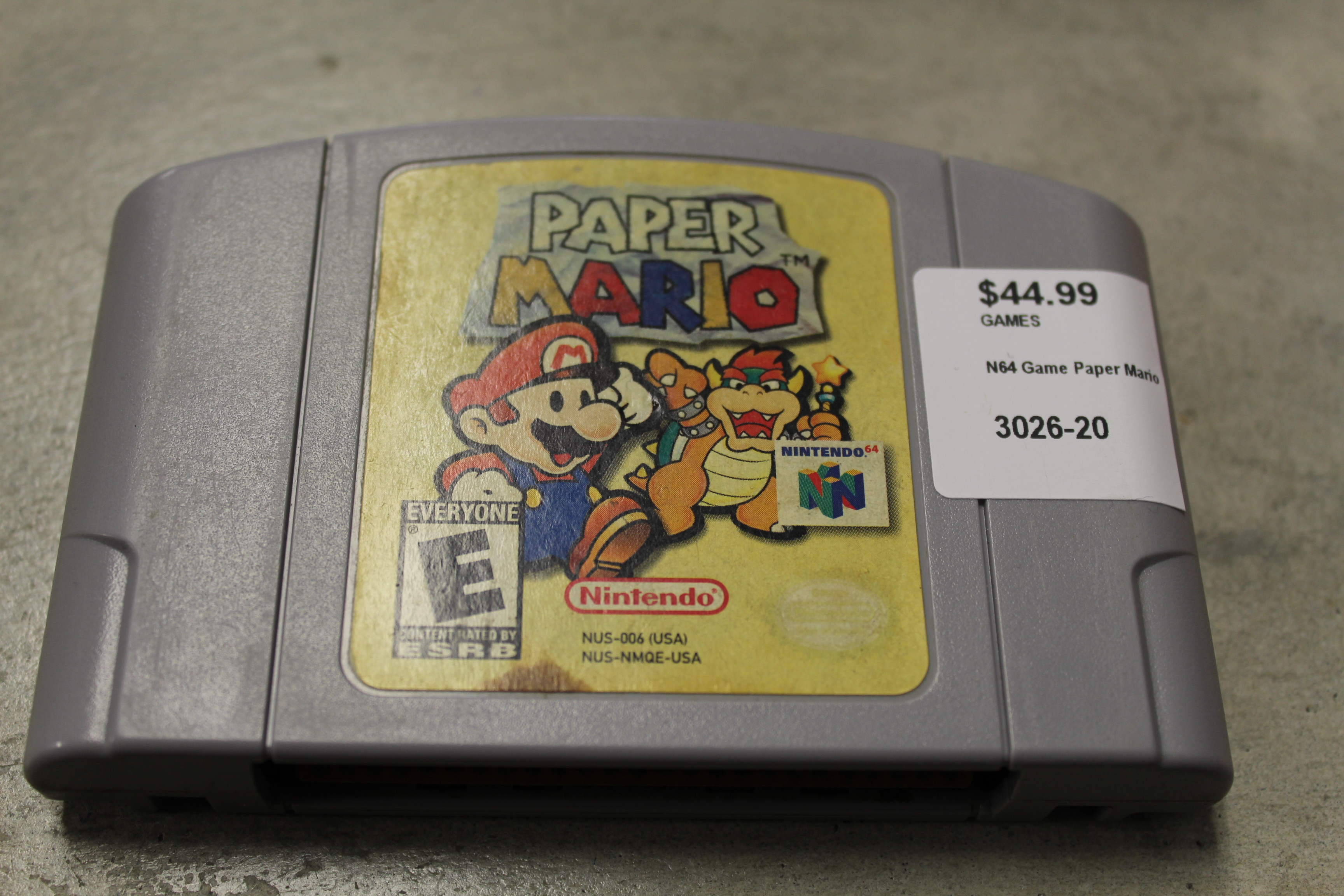 N64 Game Paper Mario