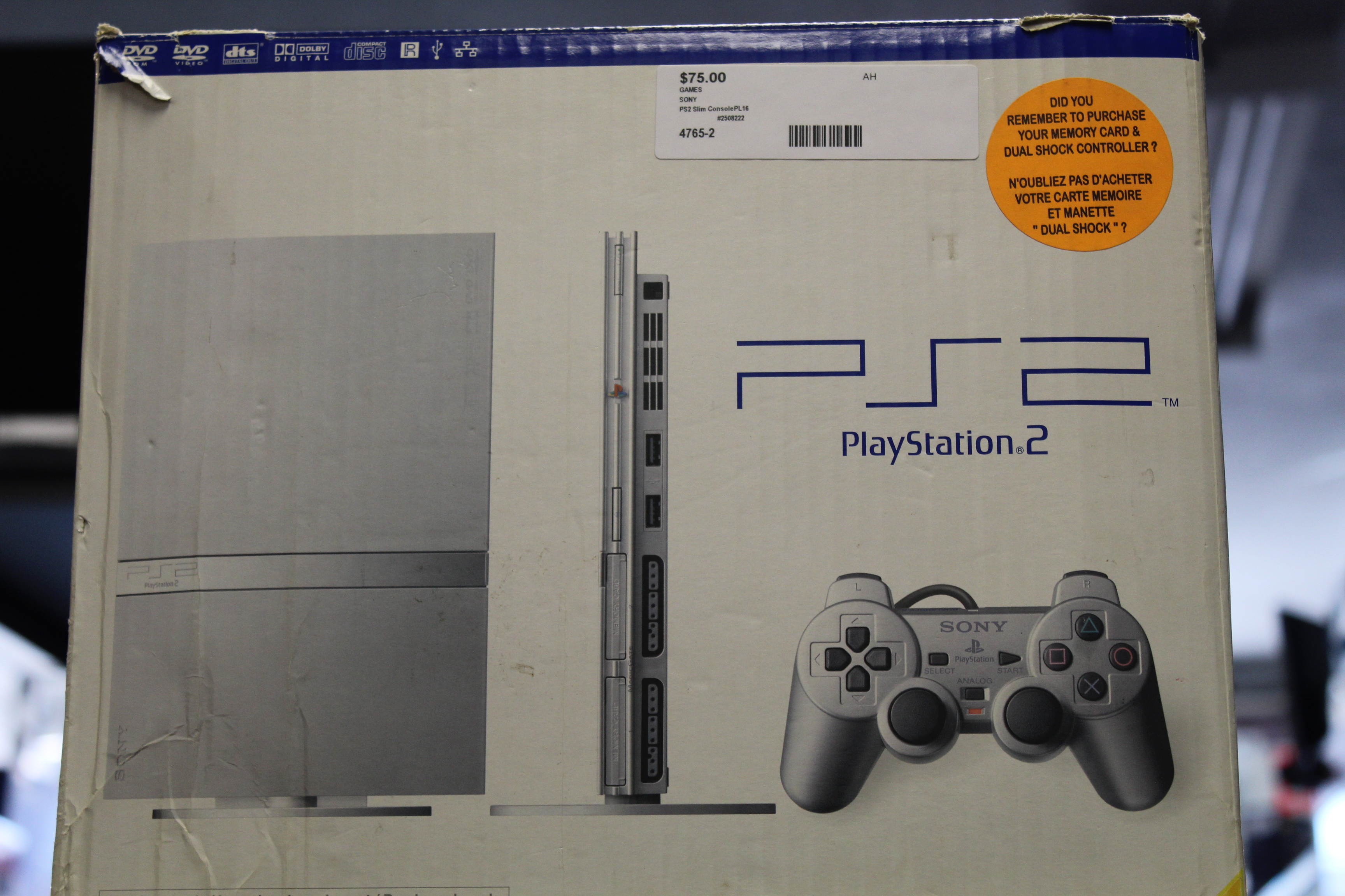 Ps2 Slim Silver Console