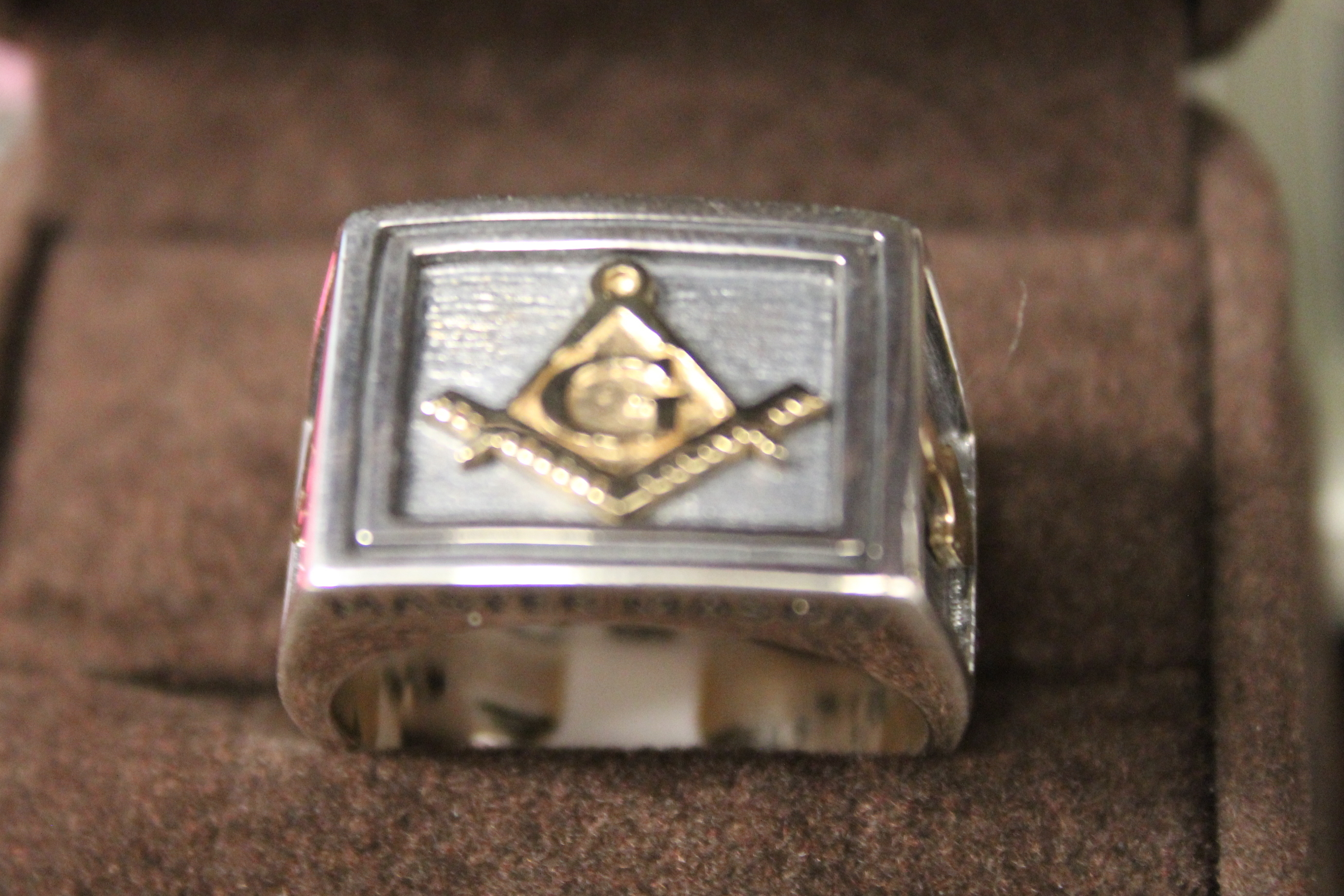 NEW Sterling Silver/14K Master Mason Ring