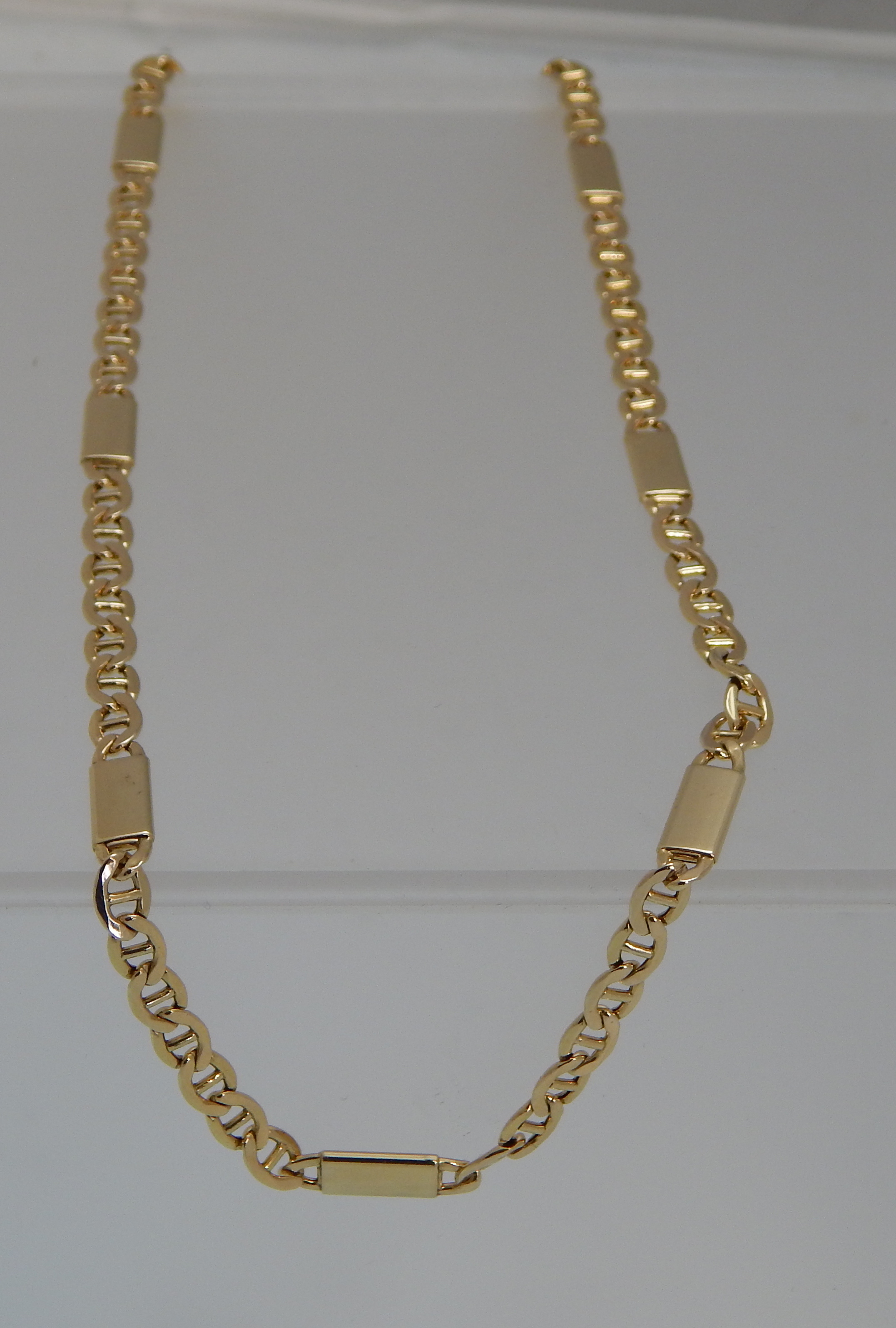 UNIQUE BEAUTIFUL MENS 10K GOLD CHAIN