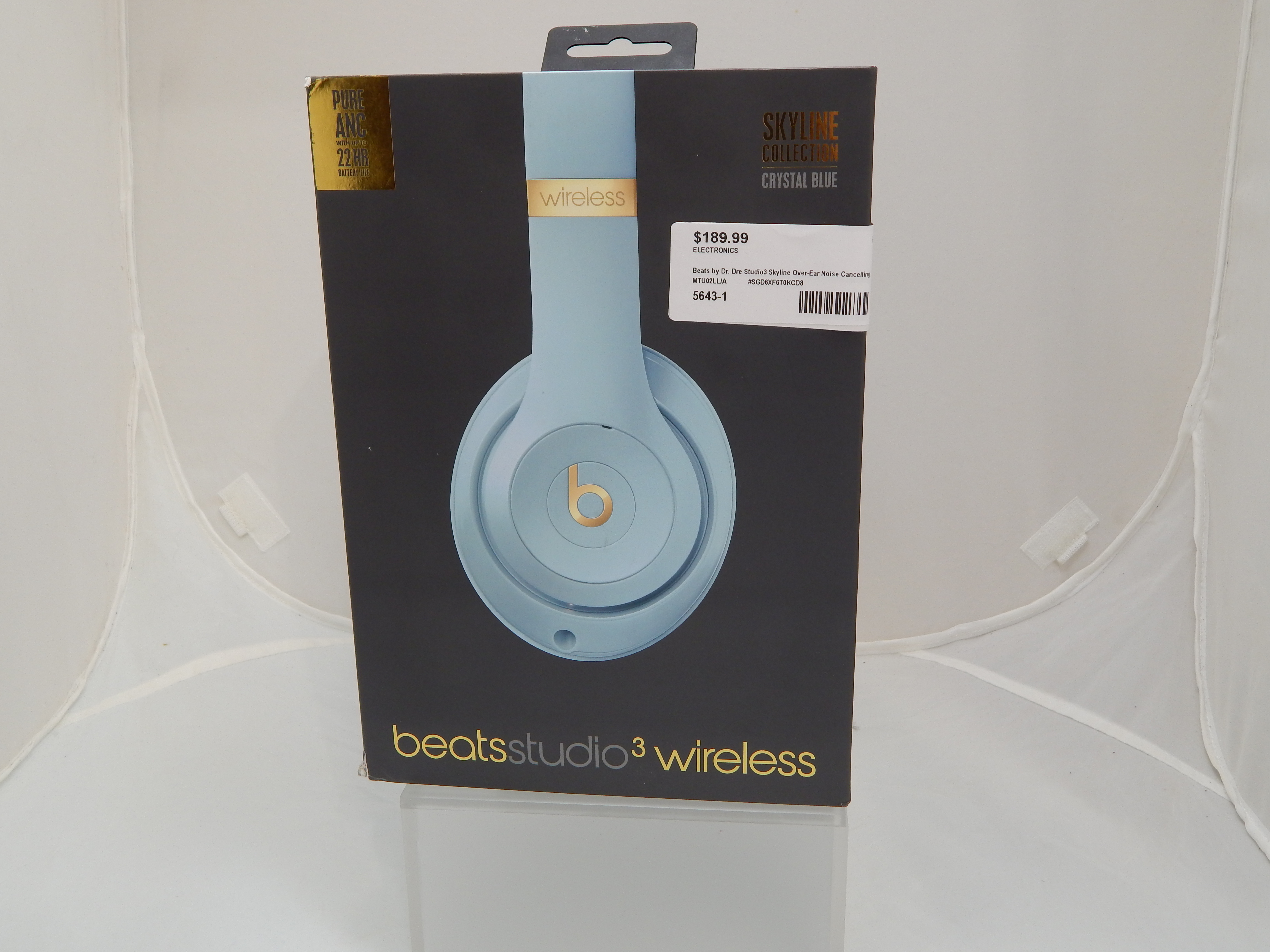 BEATS BY DR. DRE STUDIO3 SKYLINE OVER-EAR NOISE CANCELLING BLUETOOTH HEADPHONES