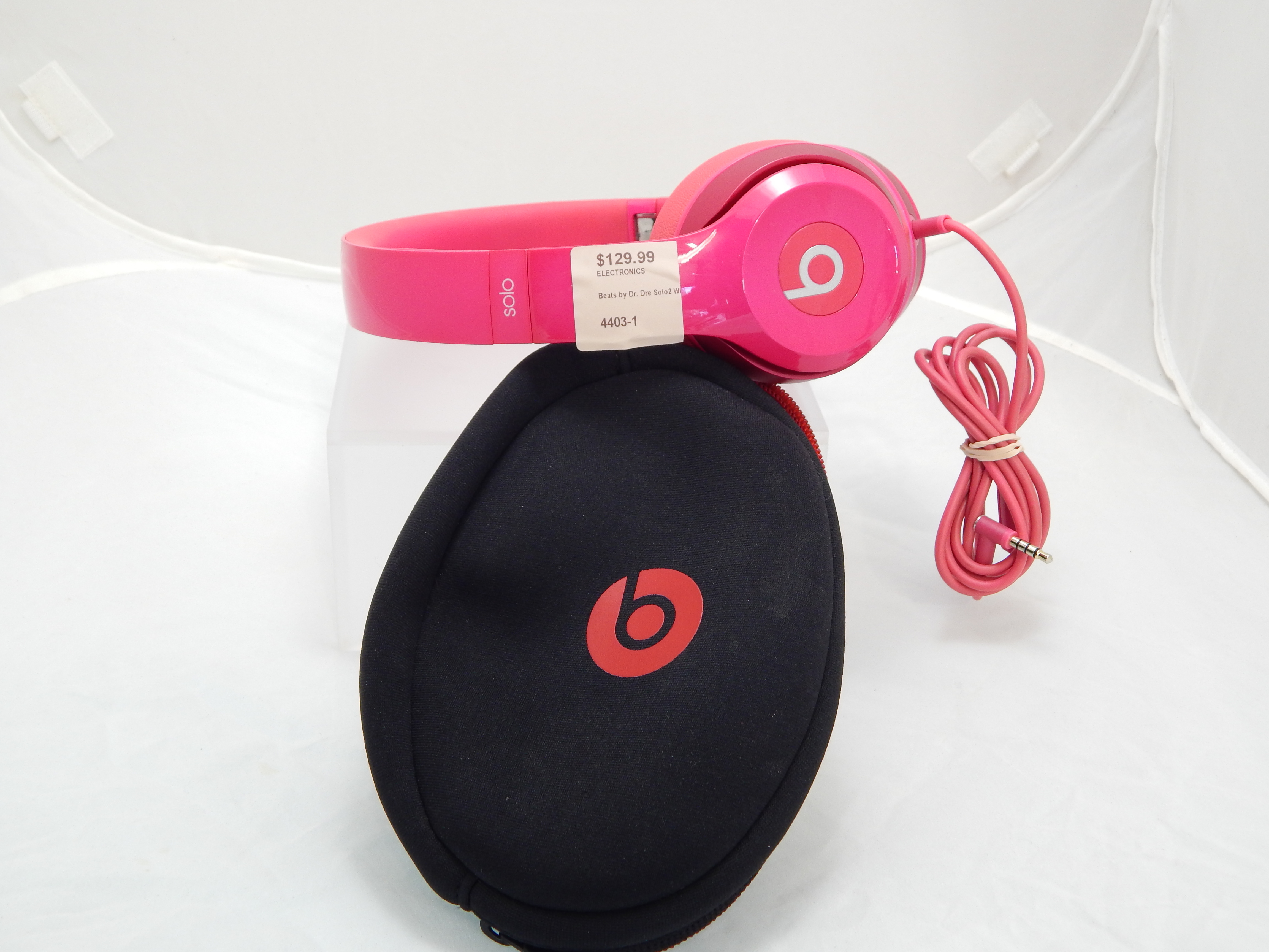 Beats by Dr. Dre Solo2 Wired Over the Ear Headphones pink model #B0518