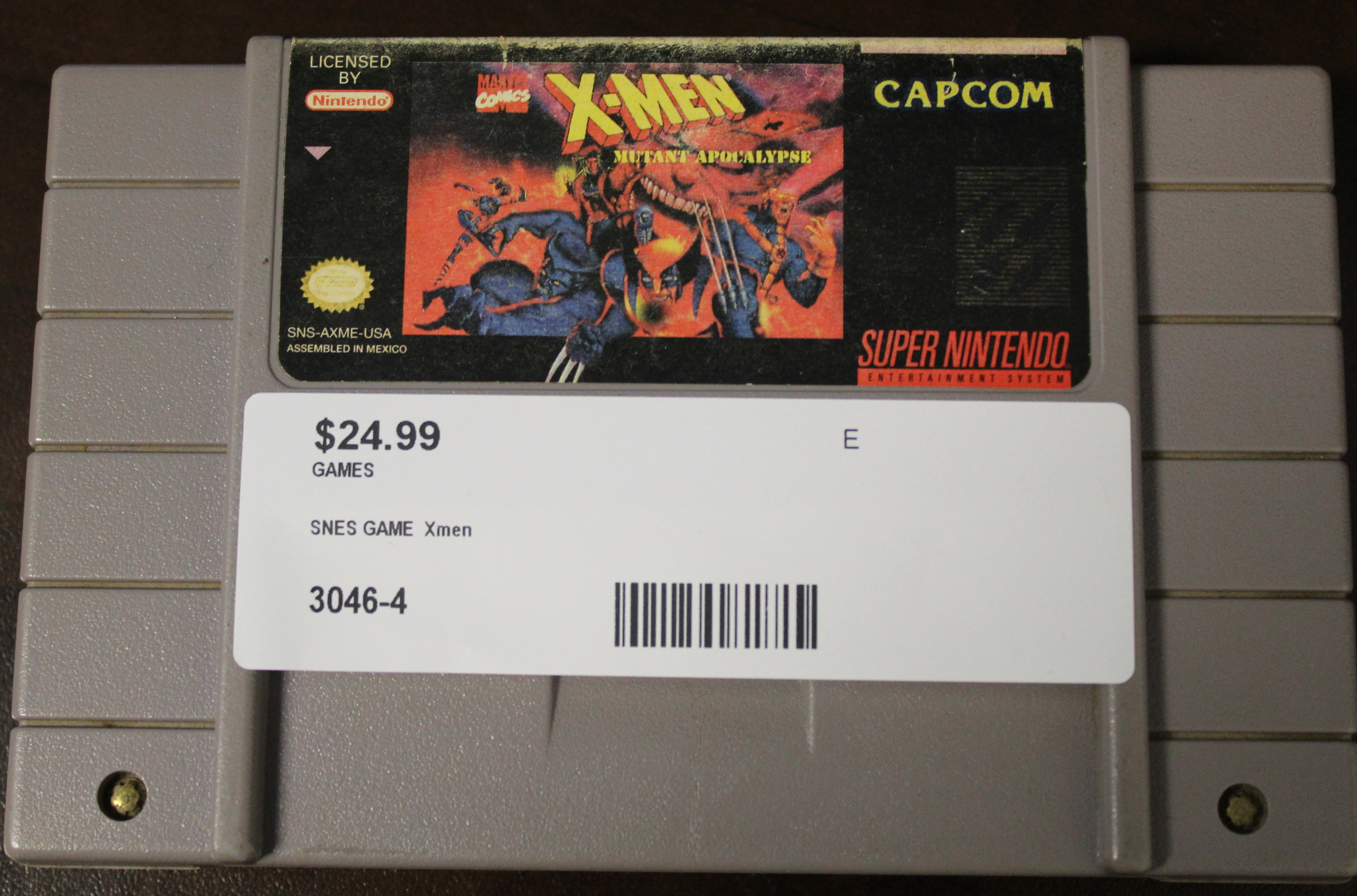 SNES Game X-Men Mutant Apocalypse