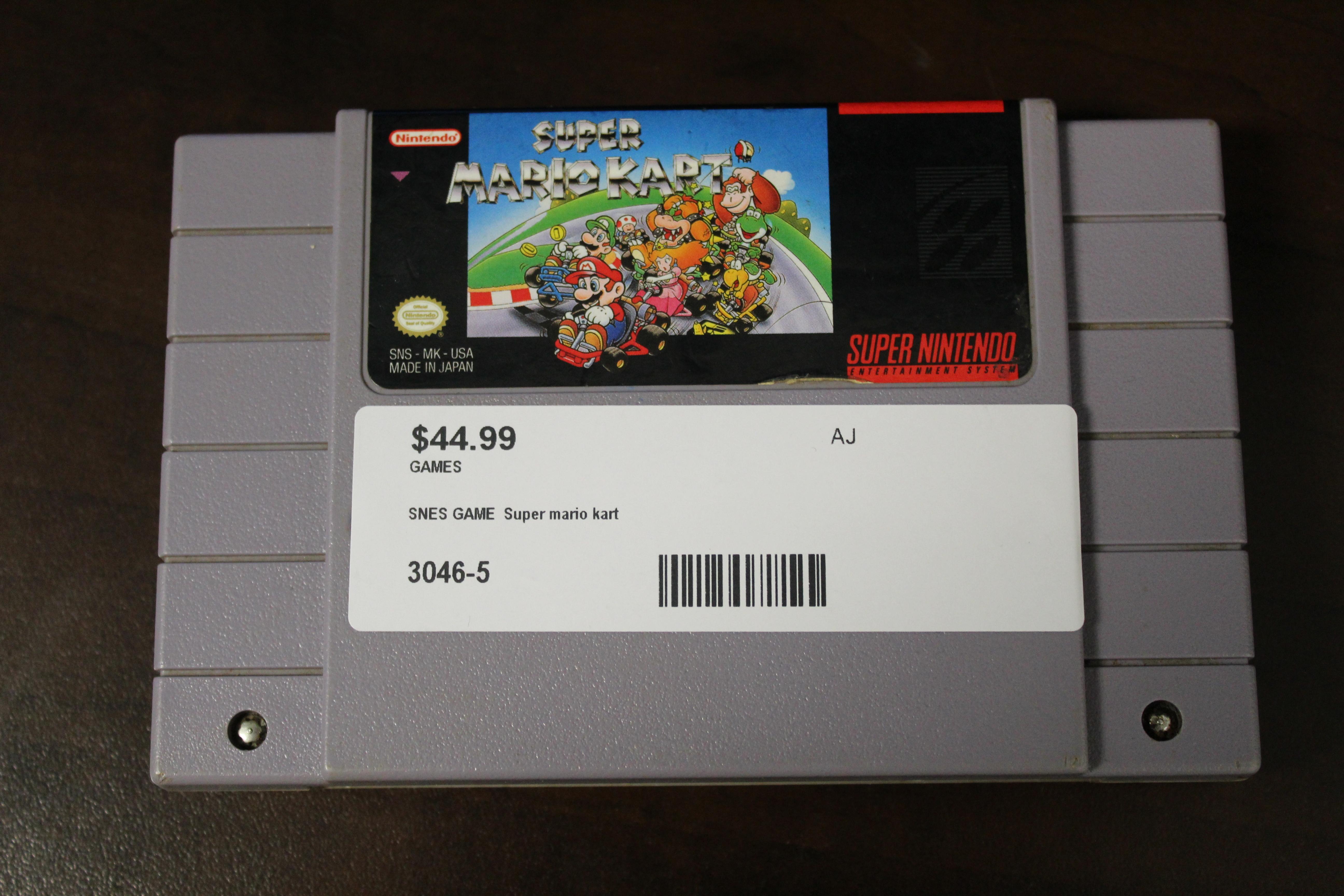 SNES Game Super Mario Kart