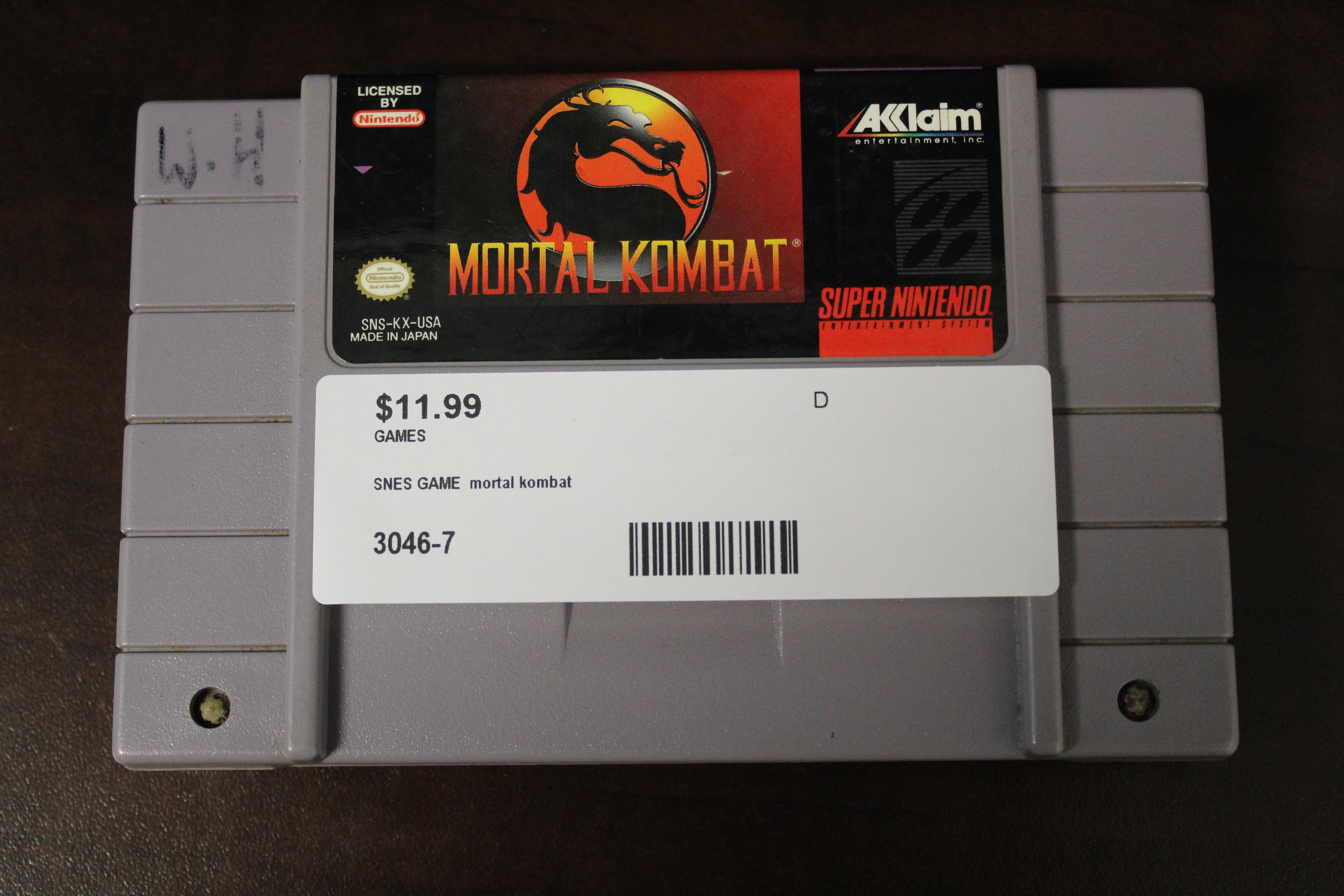 SNES GAME Mortal Kombat