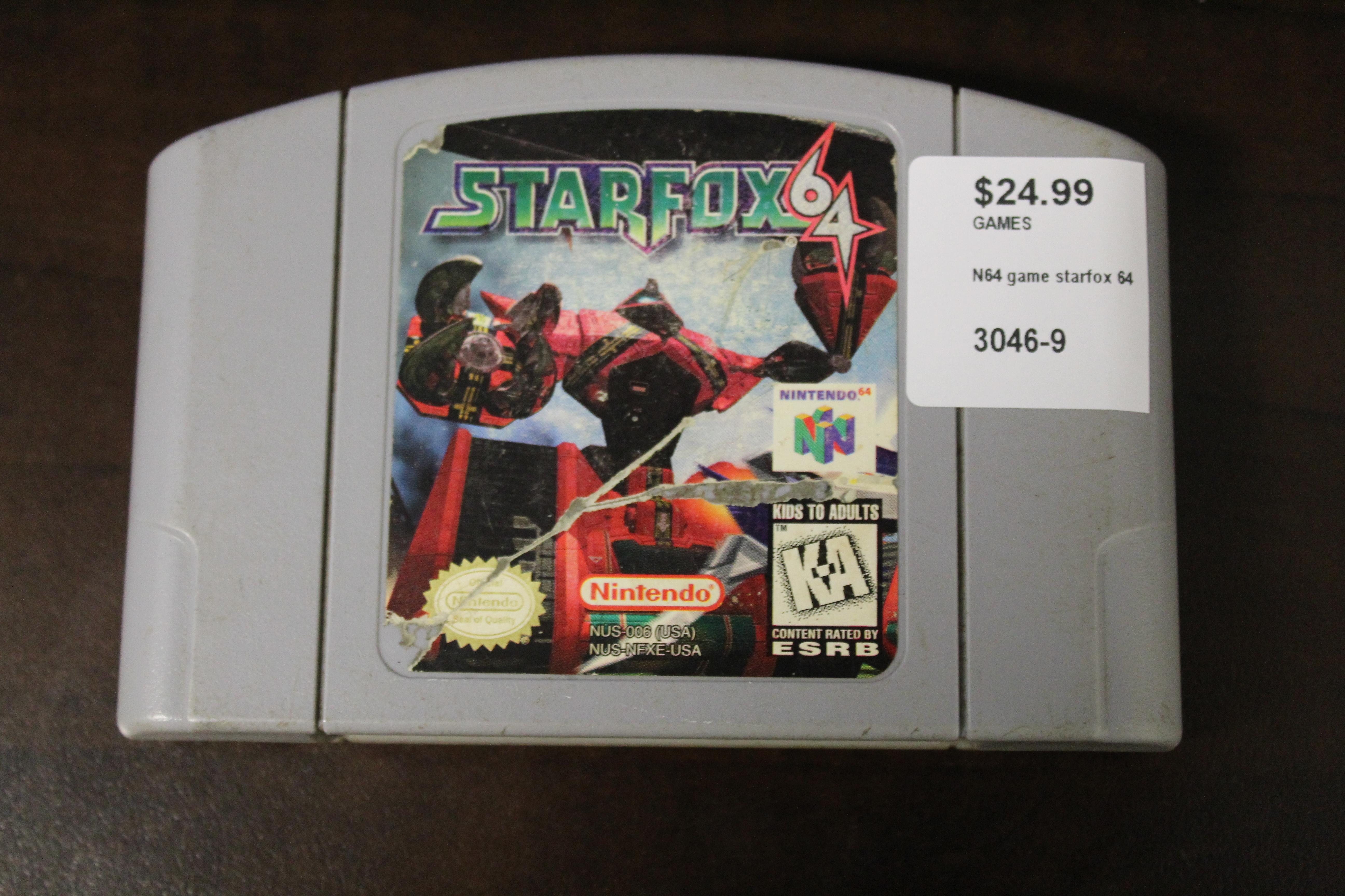 N64 Game Starfox 64