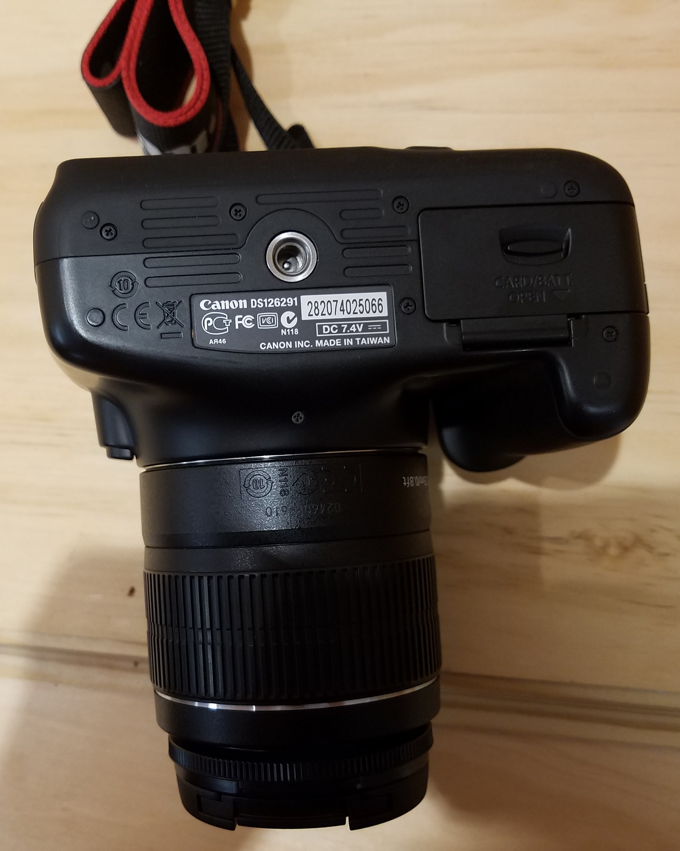 CANON EOS REBEL DS126291 CAMERA/OPTICS