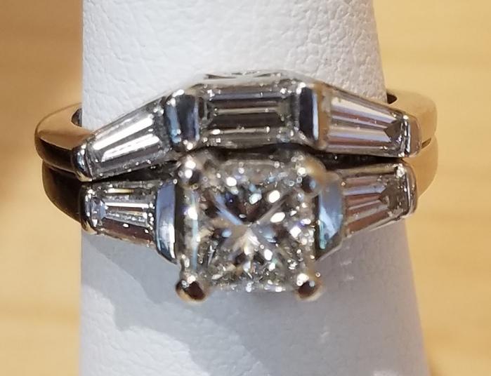 BEAUTIFUL 1CT RING JEWELRY WEDDING SET