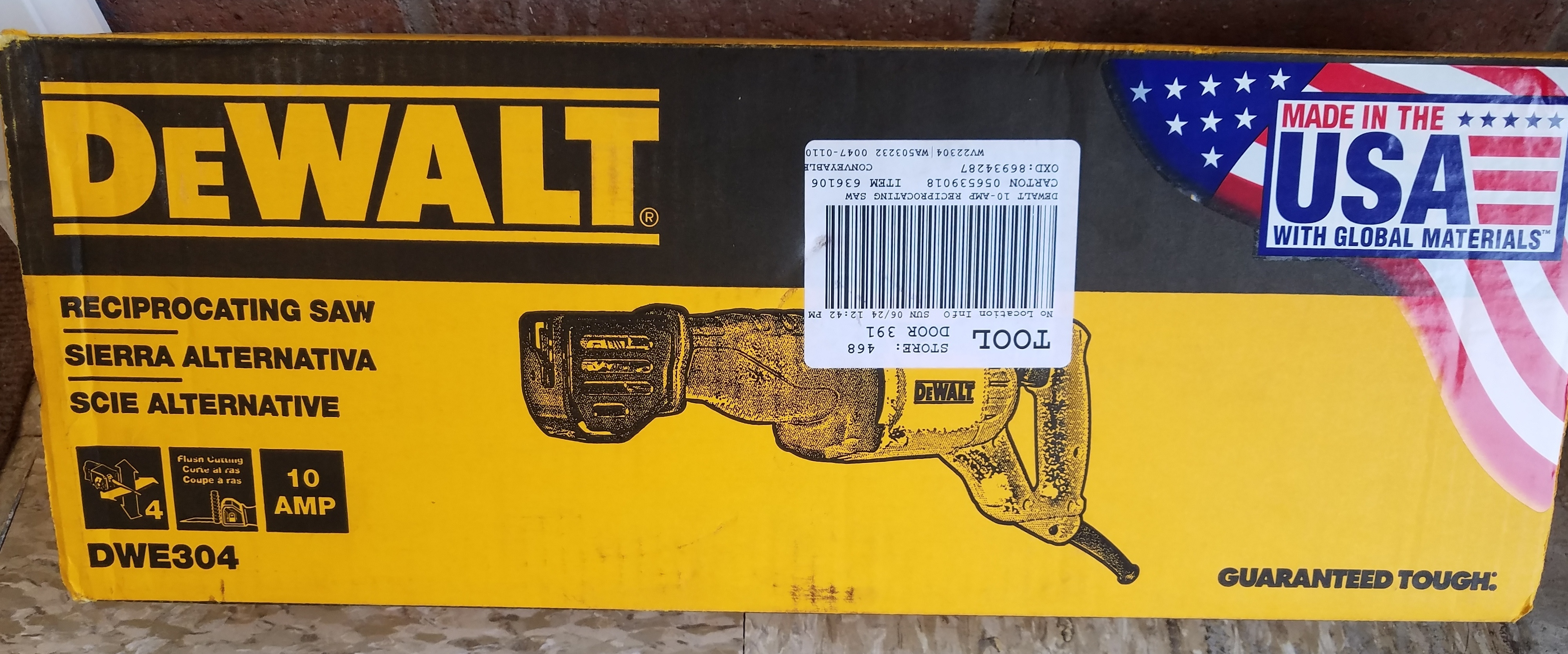 DEWALT DWE304  SAWZALL TOOLS-POWER