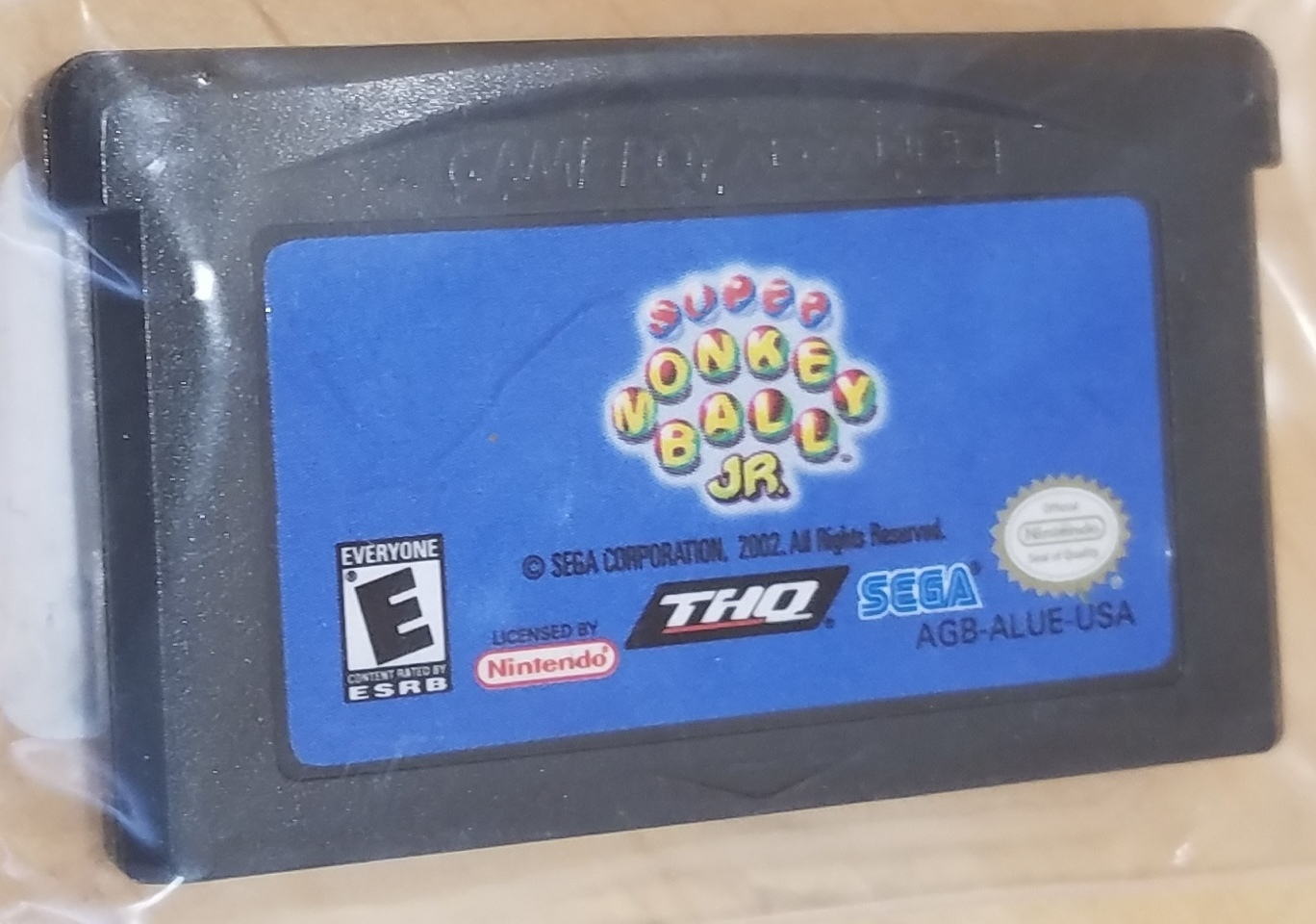 GAMEBOY ADVANCE GAME Monkey Ball Jr