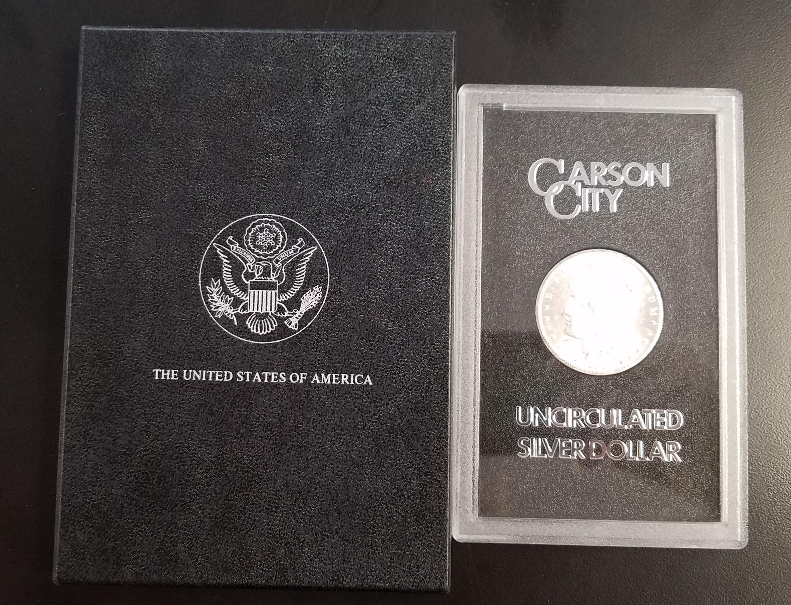 CARSON CITY 1882 UN-CIRCULATED SILVER DOLLAR CURRENCY COINS