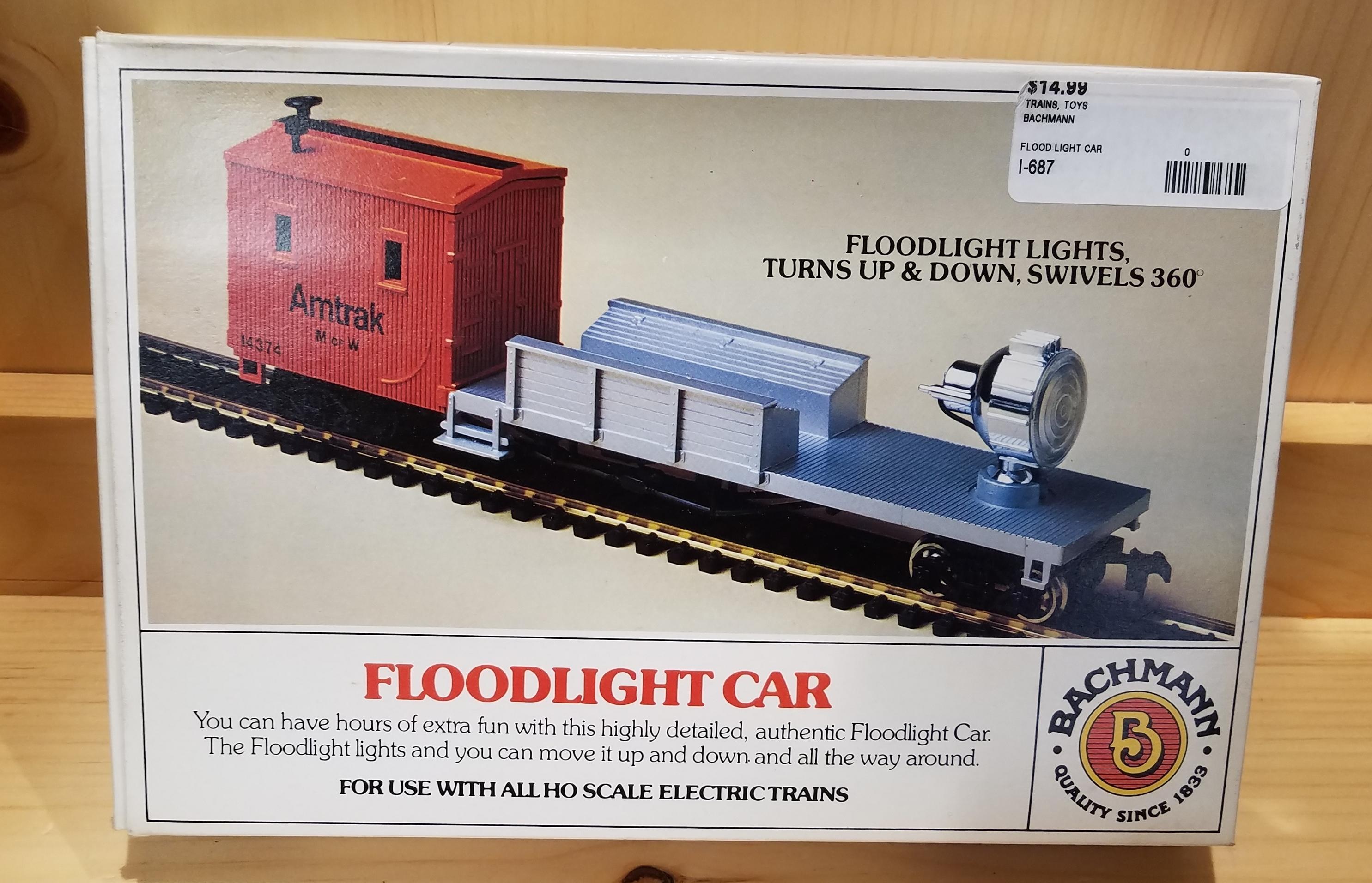 BACHMANN FLOOD LIGHT CAR TRAINS TOYS