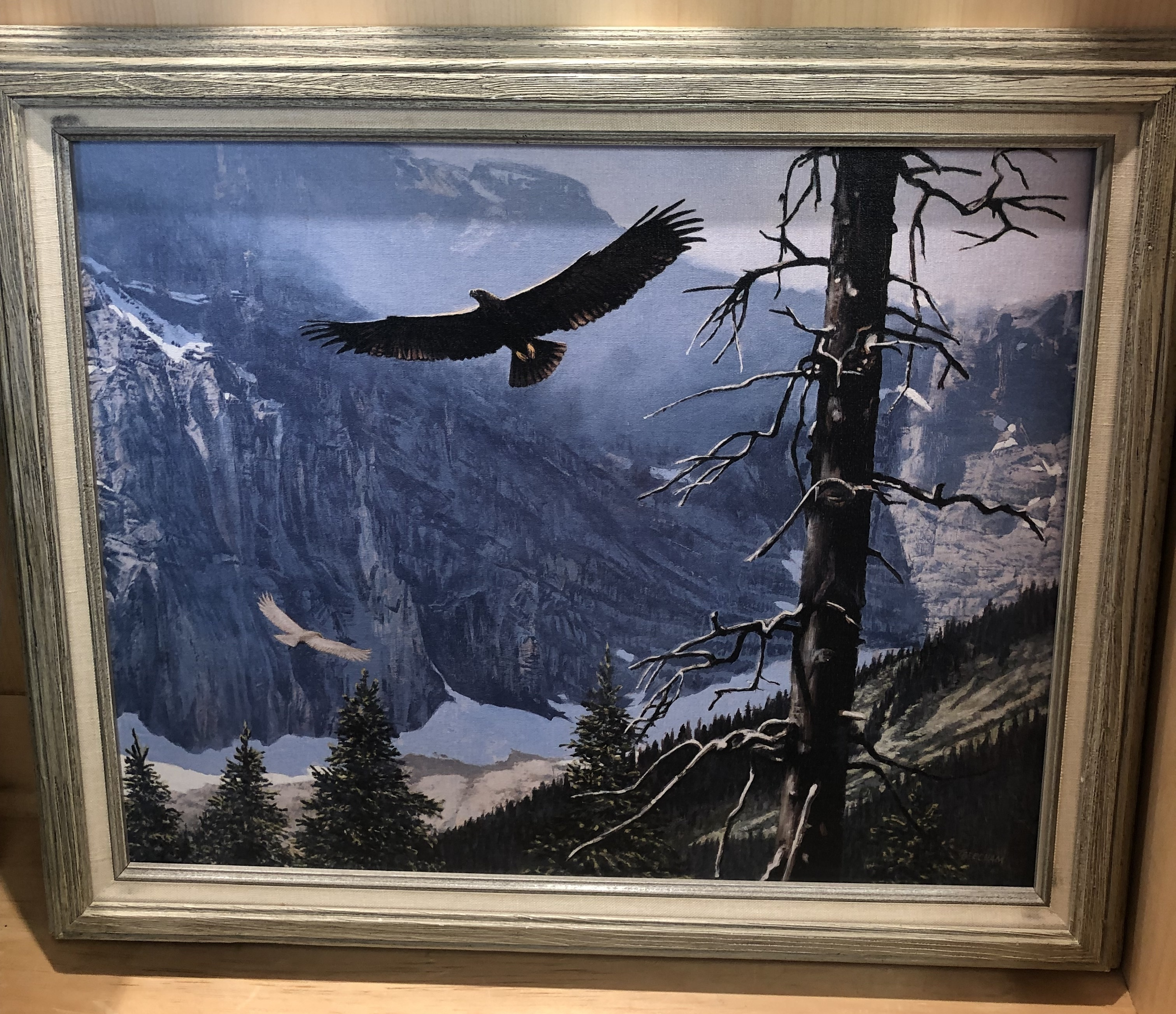 ART COLLECTIBLES EAGLE PAINTING