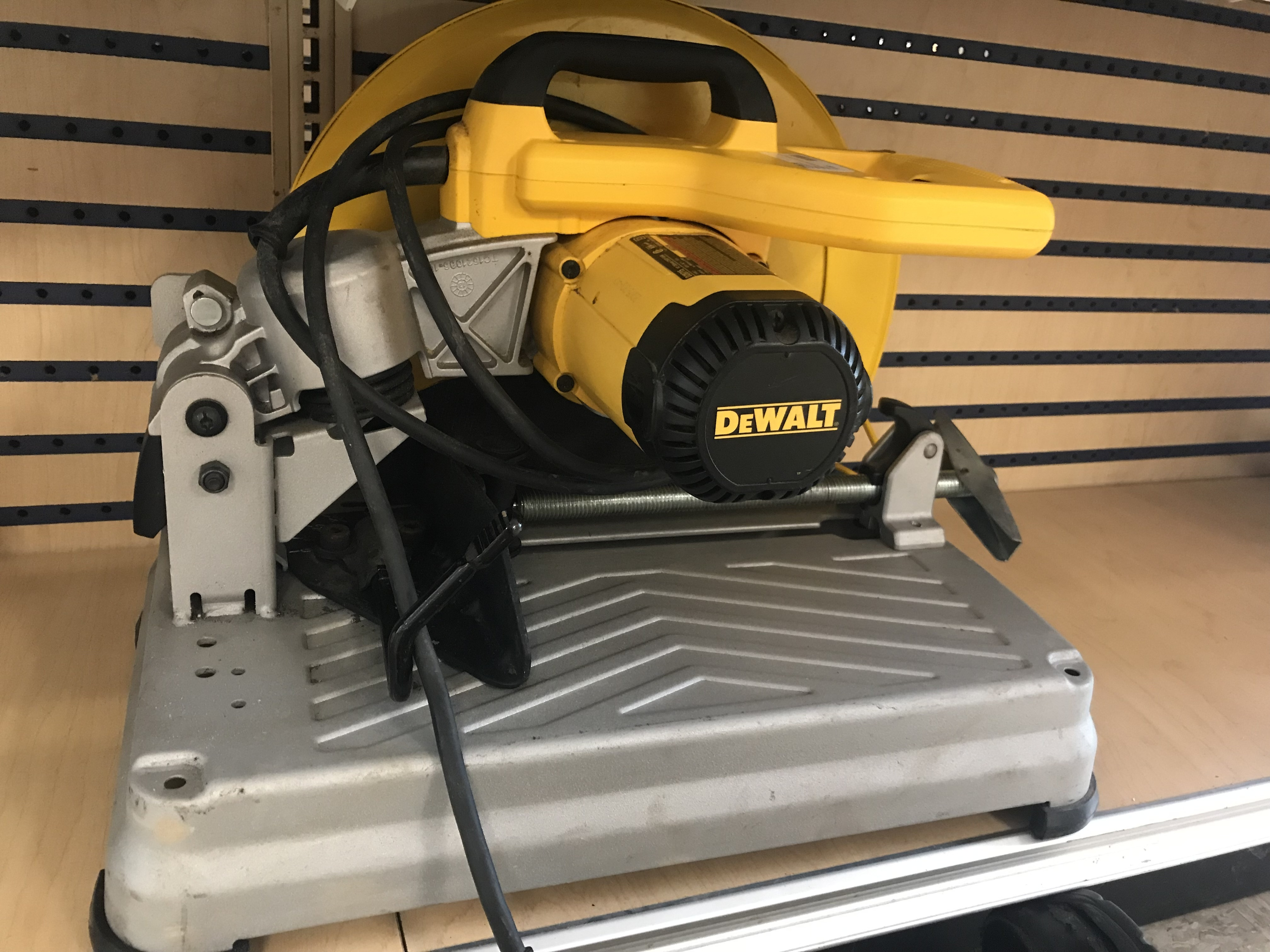 DEWALT CHOP SAW WITH GRINDER BLADE