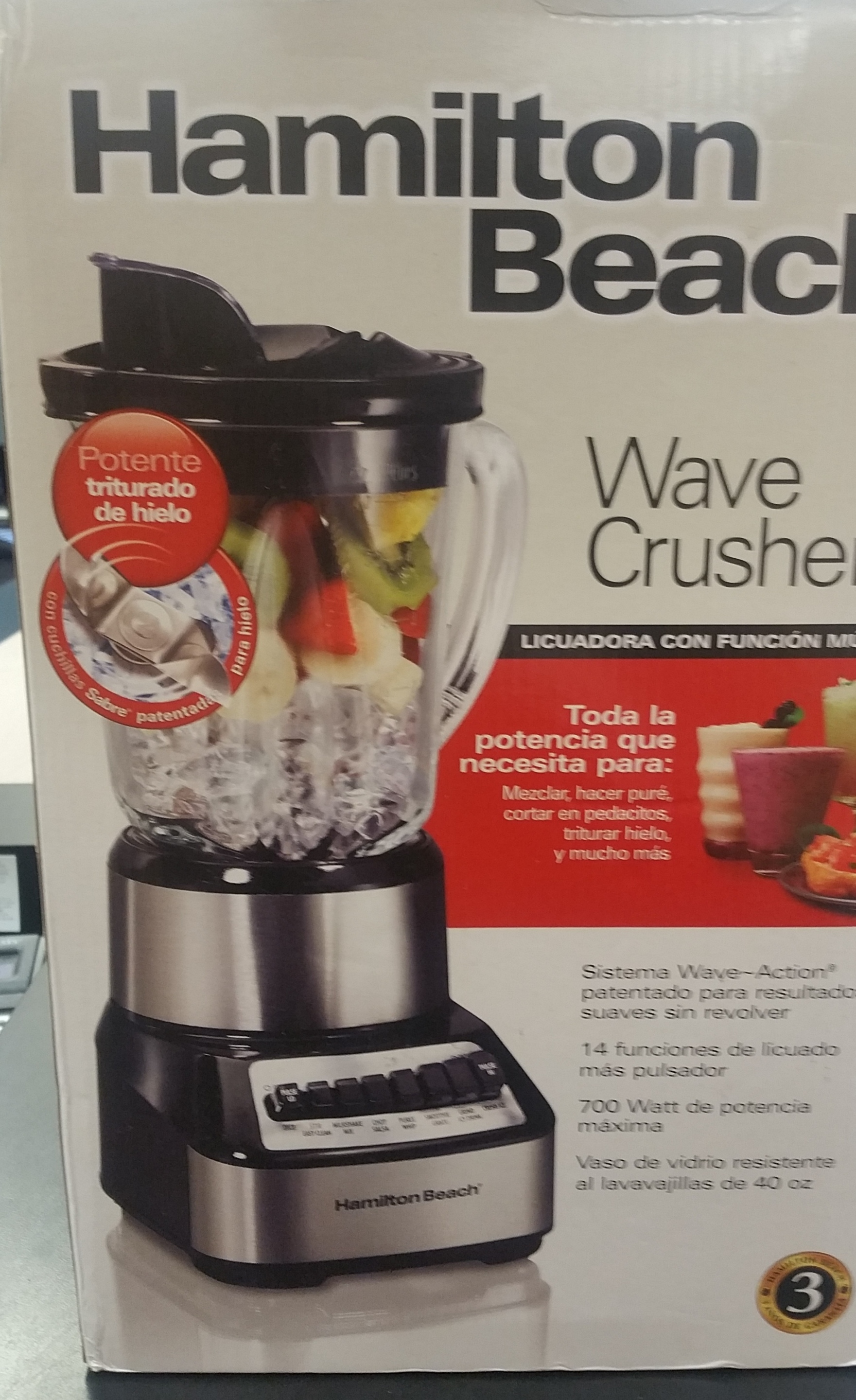 HAMILTON BEACH WAVE CRUSHER BLENDER