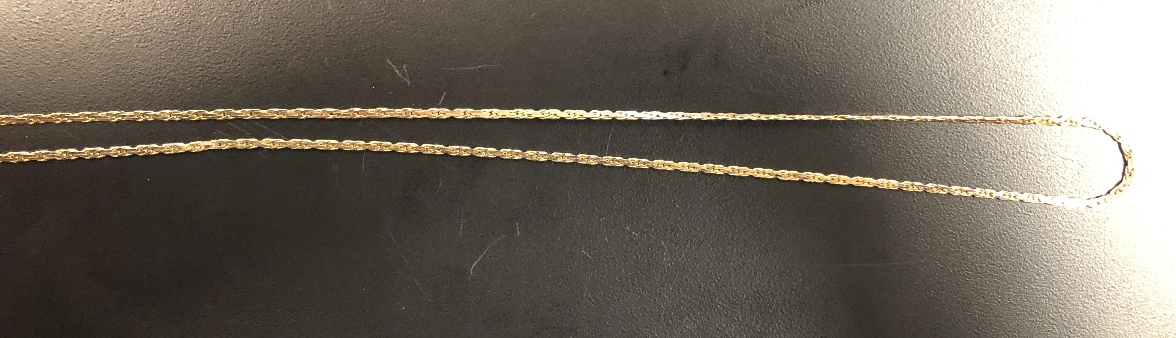 14KT 3.90DWT 20: Curb Chain