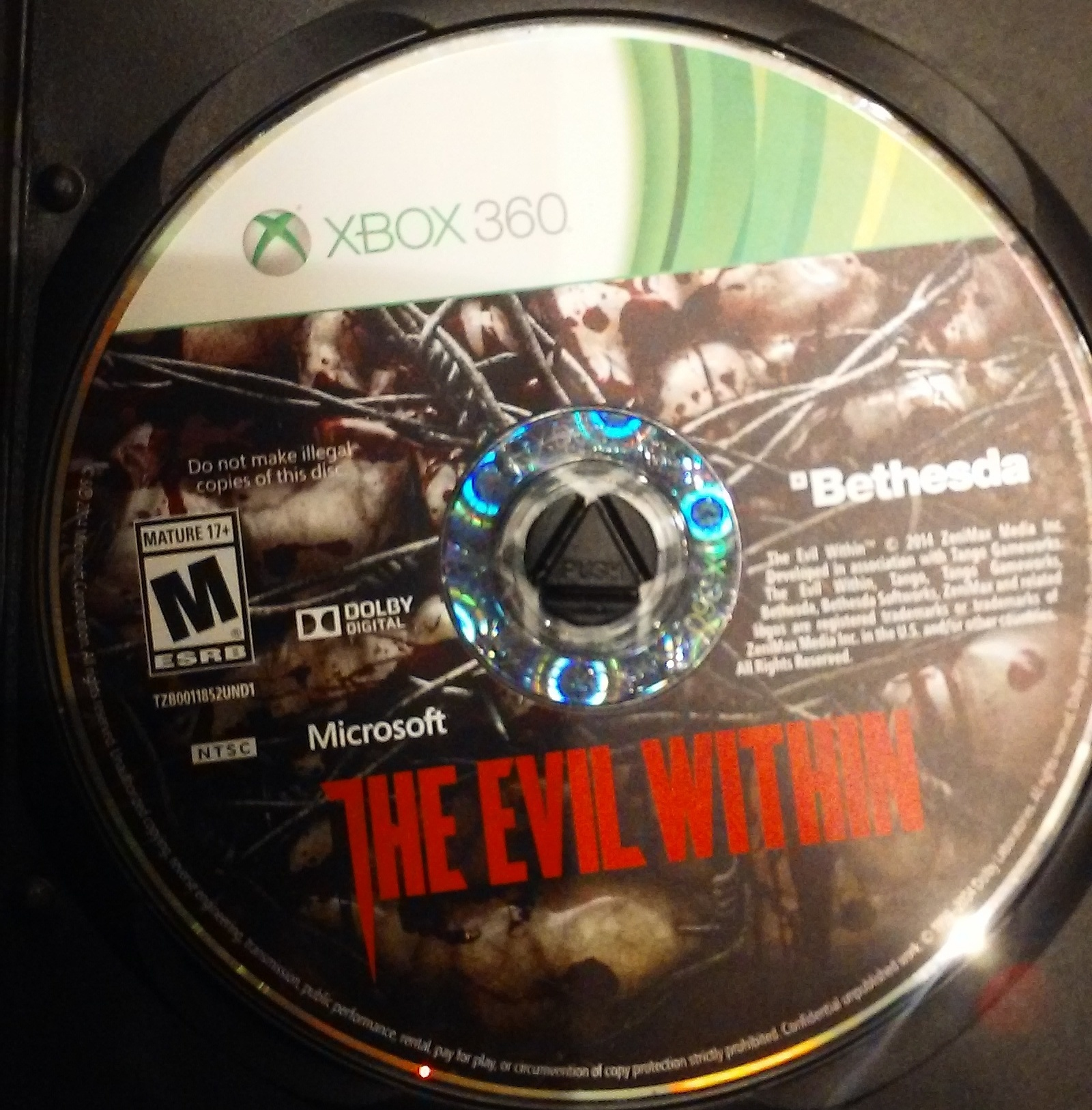THE EVIL WITHIN: XBOX 360 GAME