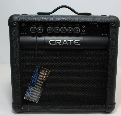 crate xt15r guitar combo amplifier 15 watt black ebay. Black Bedroom Furniture Sets. Home Design Ideas