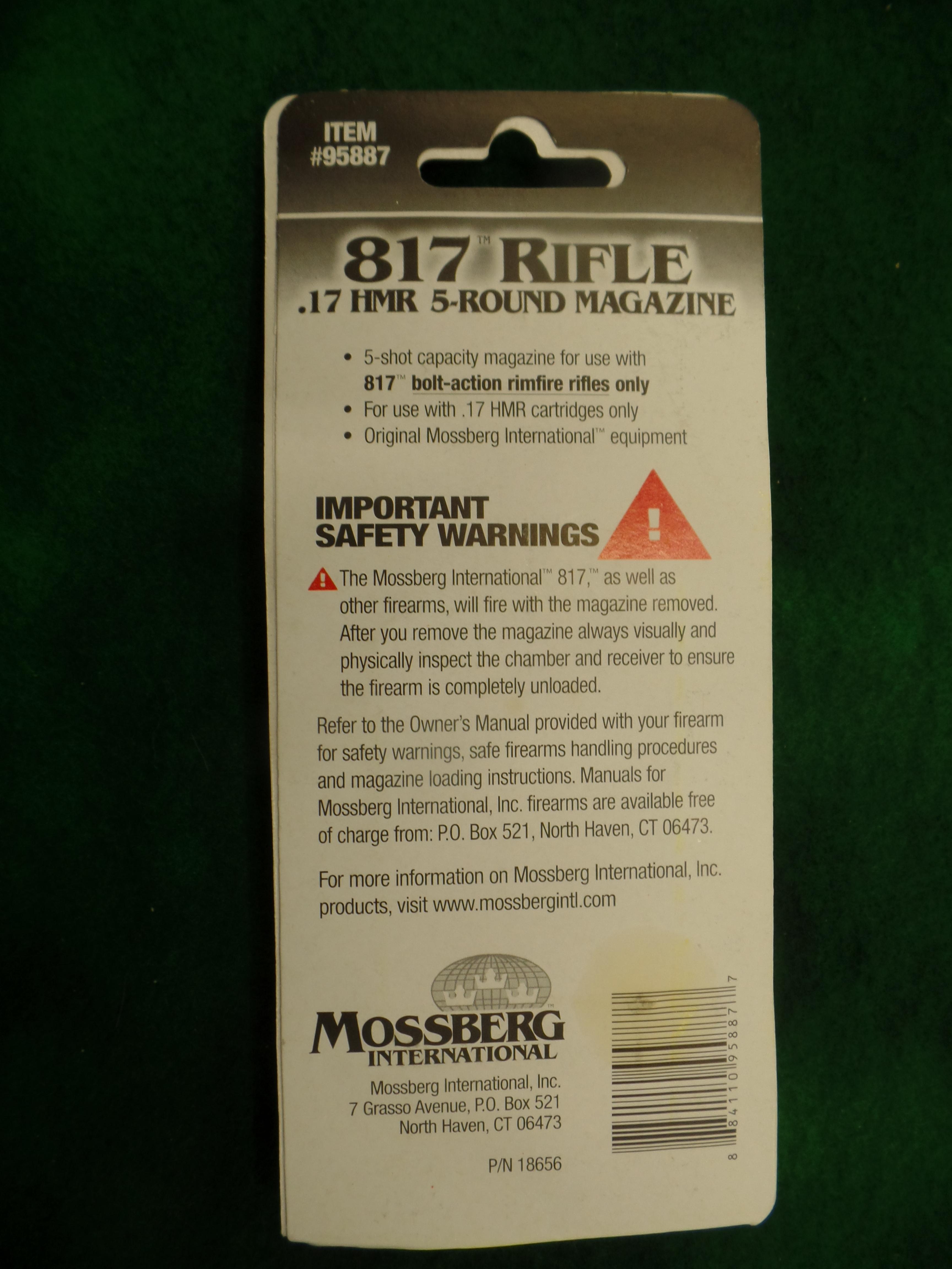 New Mossberg 817 5 Round Magazine -img-1