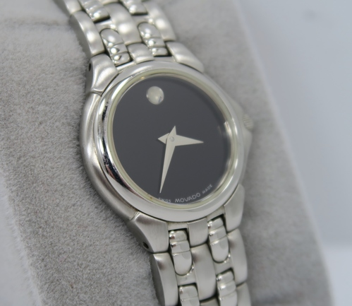 21fb909f53405 Movado 84-E4-9823 Museum Ladies Stainless Steel Watch - Black Dial - GREAT  LOOK