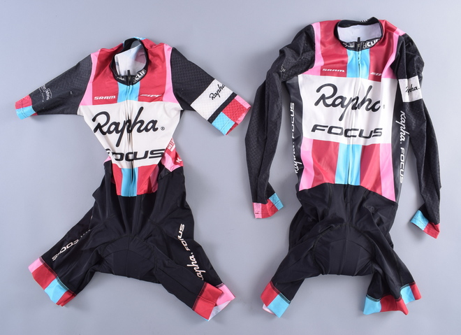 LOT of 2 Rapha Focus Team Short And Long Sleeve Skinsuit