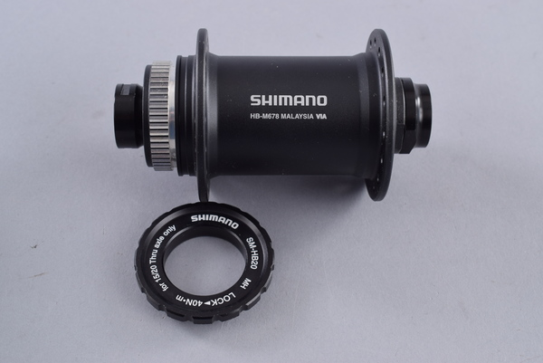 Shimano SLX HB-678 Front Hub 15mm Thru Axle 100mm 32H Centerlock Disc Black