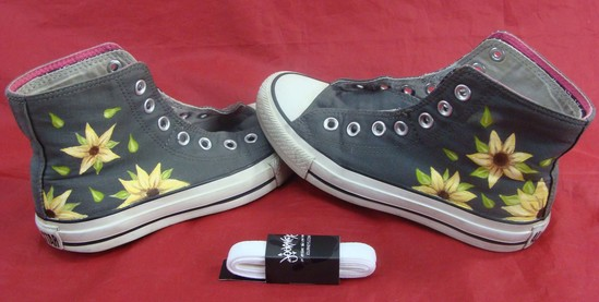 48b4a613bed84 Custom Hand Painted Girassol Converse Chuck Taylor All Star Tênis ...