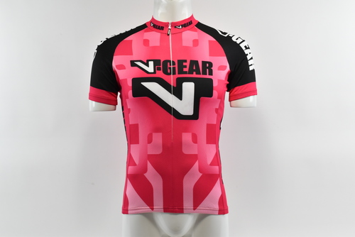 Brand New Verge Red//White Short Sleeve Cycling Jersey Large
