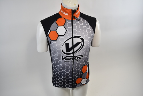 Medium Men/'s Verge V Gear Thermo Winter Cycling Vest White//Blue CLOSEOUT