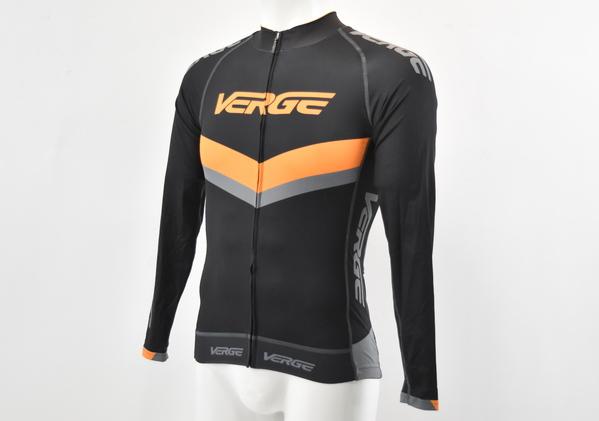 Orange//Grey//Black Brand New Large Orange Cuff Verge Men/'s S//S Cycling Jersey