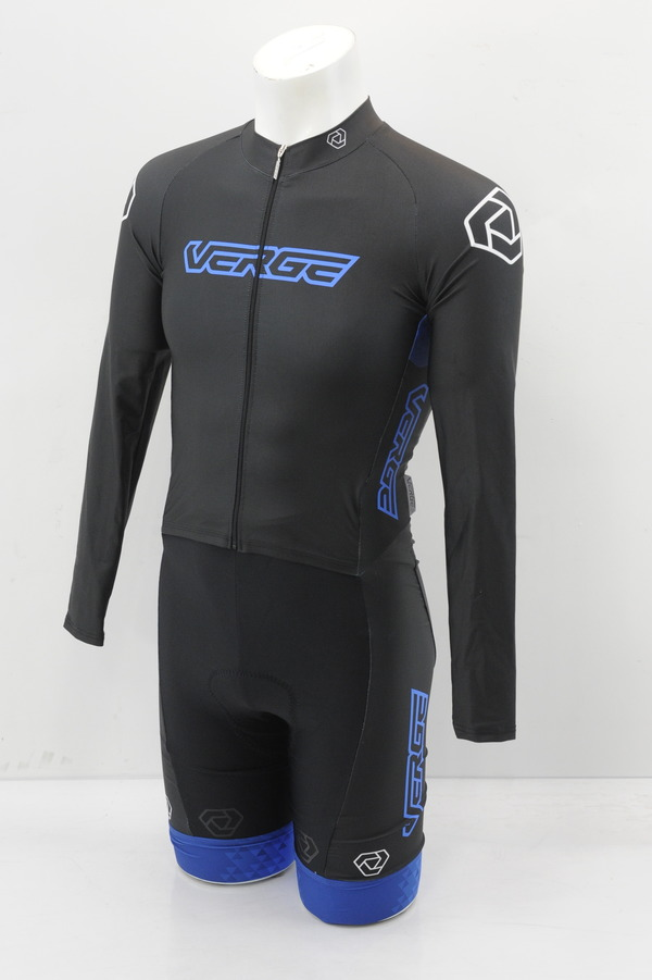 Men/'s Speedsuit Long Sleeve 2XL Black//Blue Brand New Verge Strike