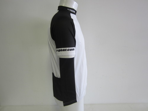 Verge Black//White Short Sleeve Cycling Jersey Large New Old Stock