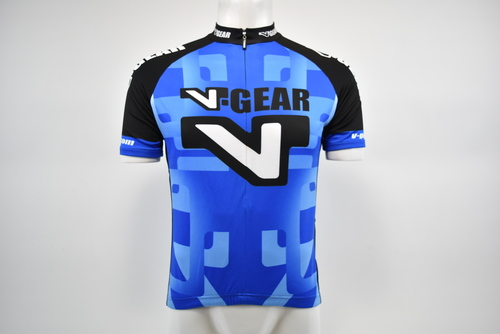 Brand New Verge White Blue Flames Short Sleeve Cycling Jersey XS
