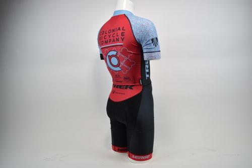 Brand New Verge Coloniel Bike Co Women/'s L//S Lycra CX Cycling Skinsuit Rd//Blu XS