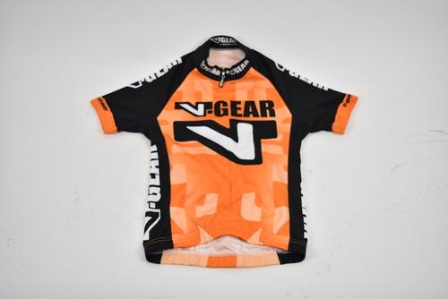 Brand New Verge V-Gear Sport Cut Short Sleeve Cycling Jersey Mens XS Gray Orange